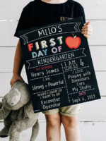 Love Designs 2 in 1 First & Last Day Sign   Colour