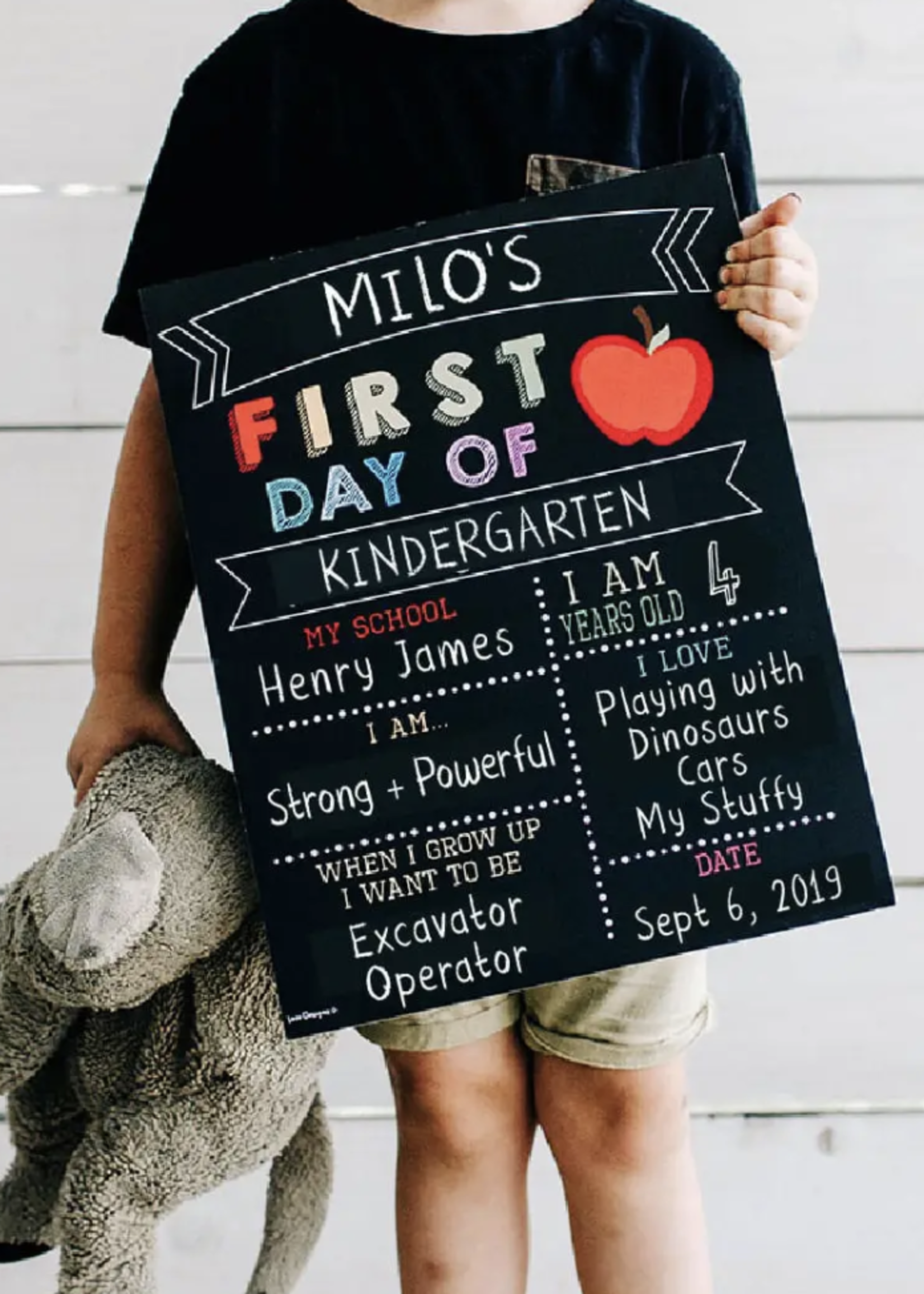 Love Designs 2 in 1 First & Last Day Sign | Colour