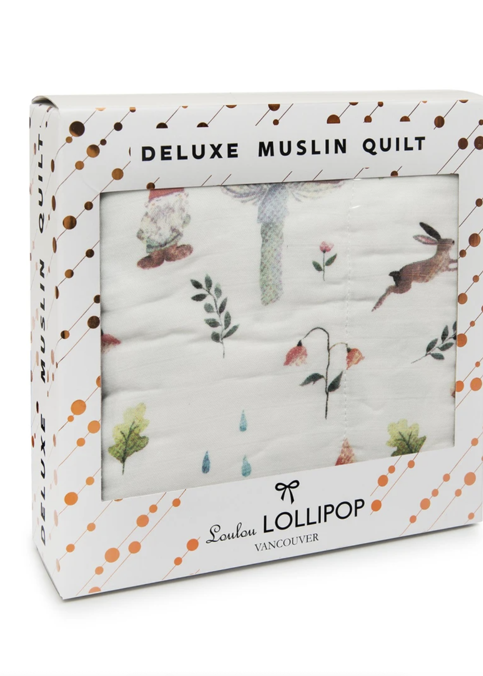 Lou Lou Lollipop Muslin Quilt Blanket | Woodland
