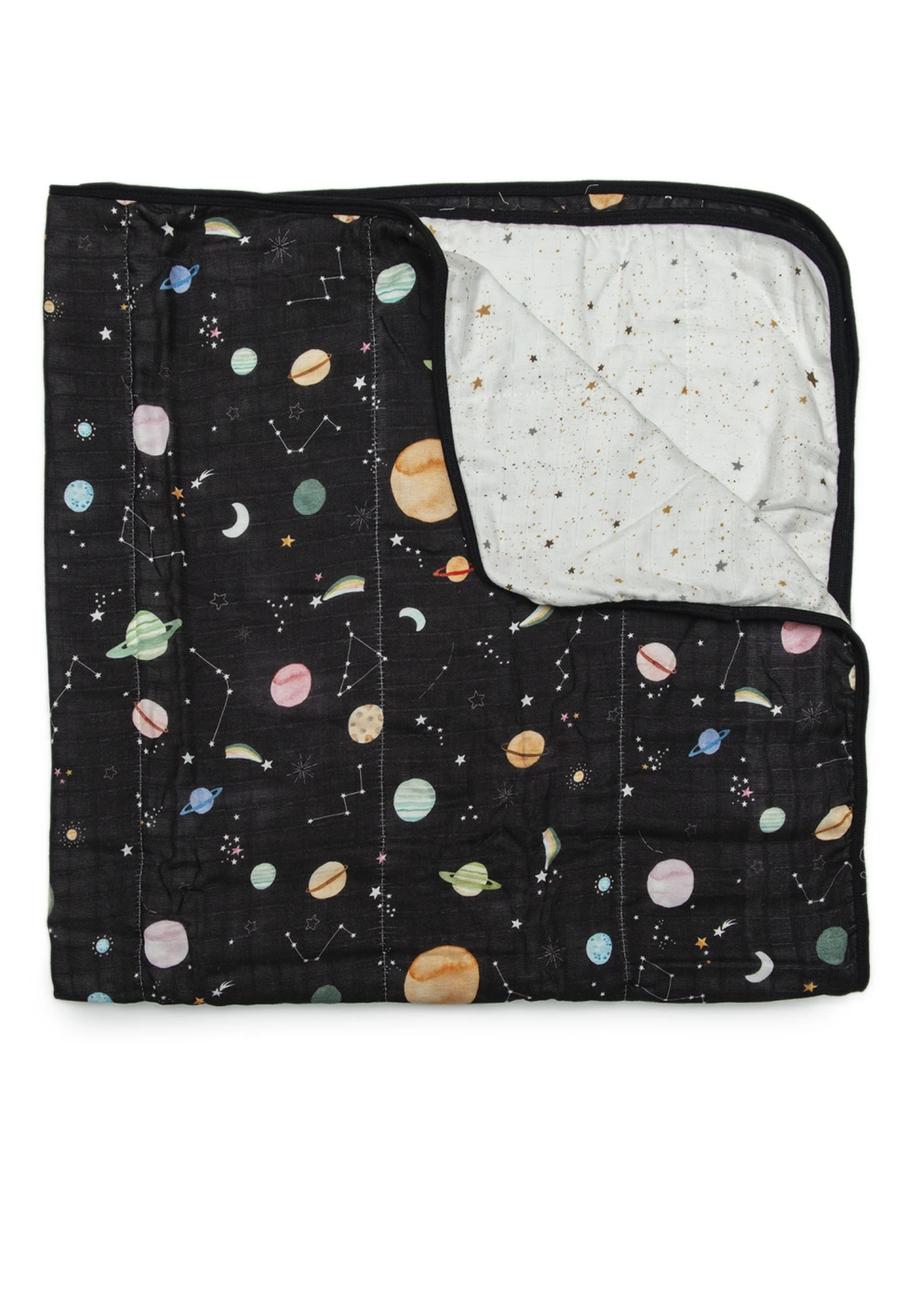 Lou Lou Lollipop Muslin Quilt Blanket | Planets