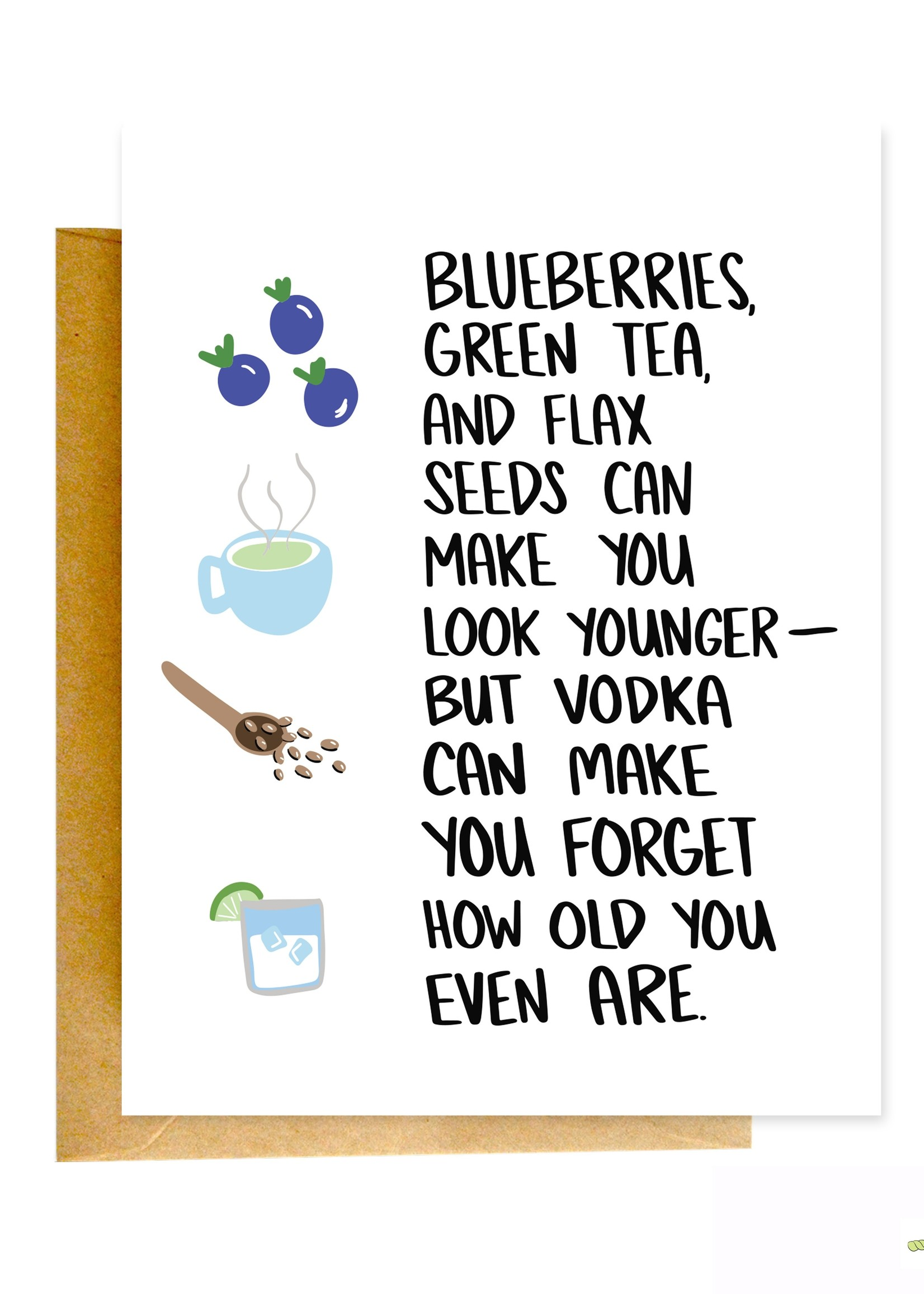 Knotty Cards Blueberries Vs. Vodka