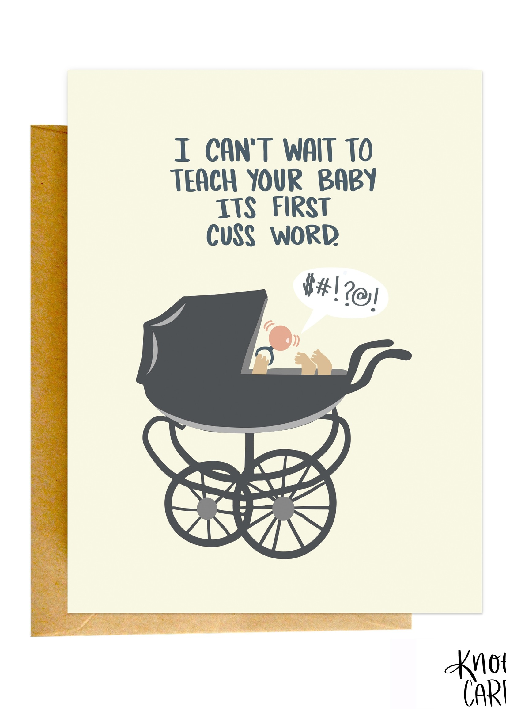 Knotty Cards Baby's First Cuss Word