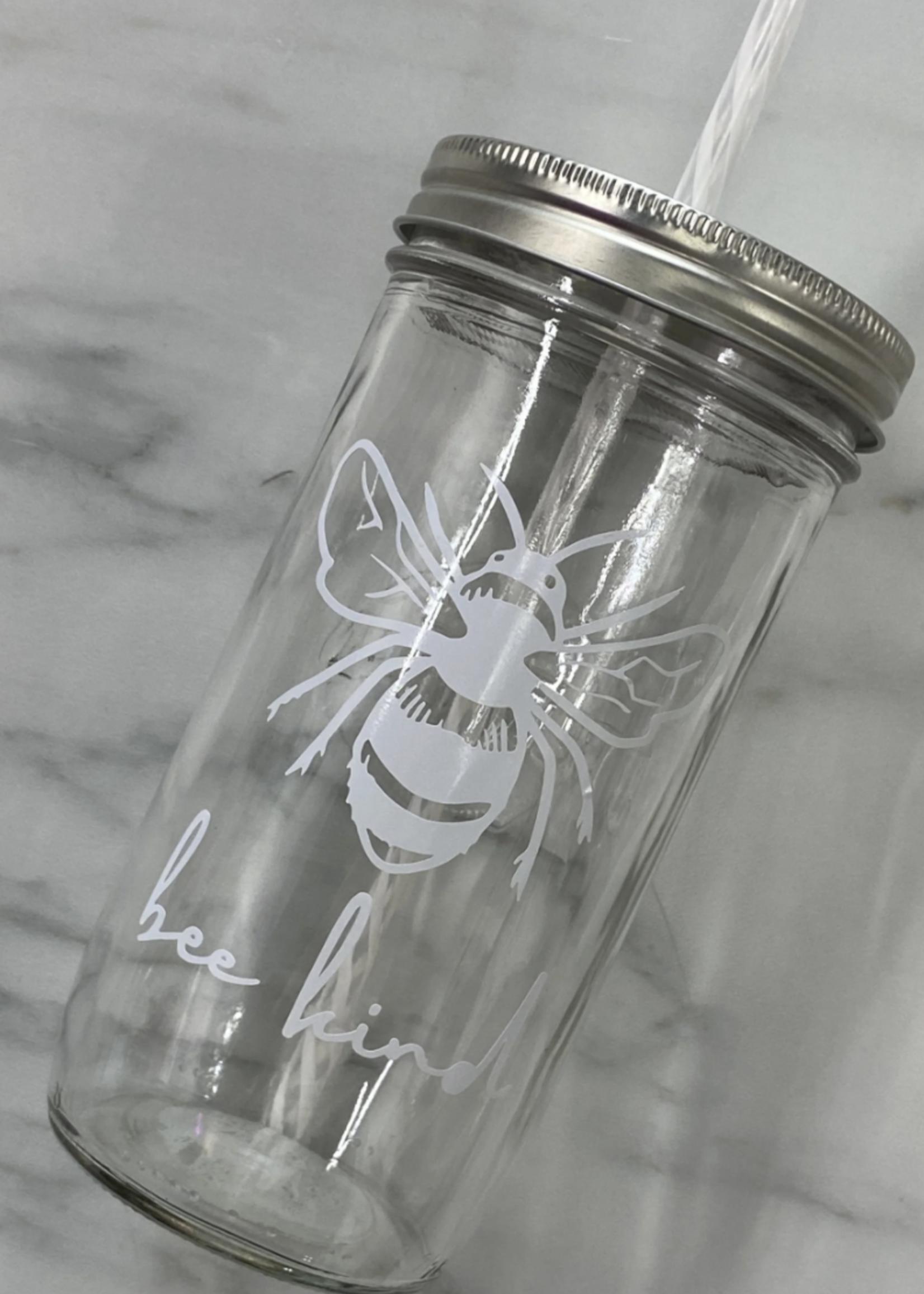 Kanga & Roo Craft Co Mason Jar Tumbler & Straw