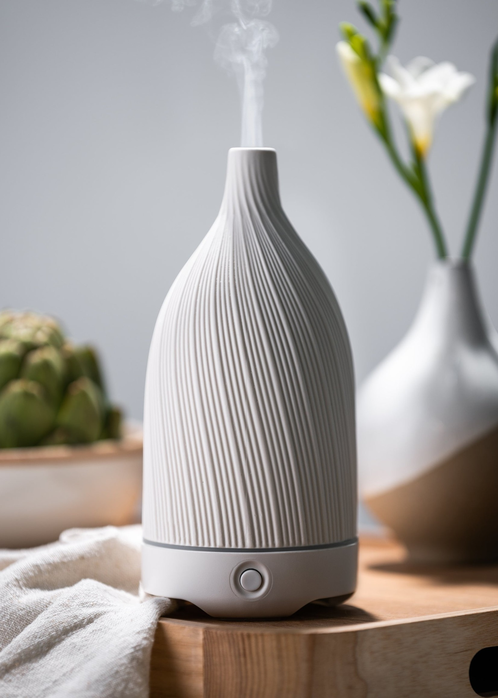 Woolzies Textured Ceramic Diffuser   White