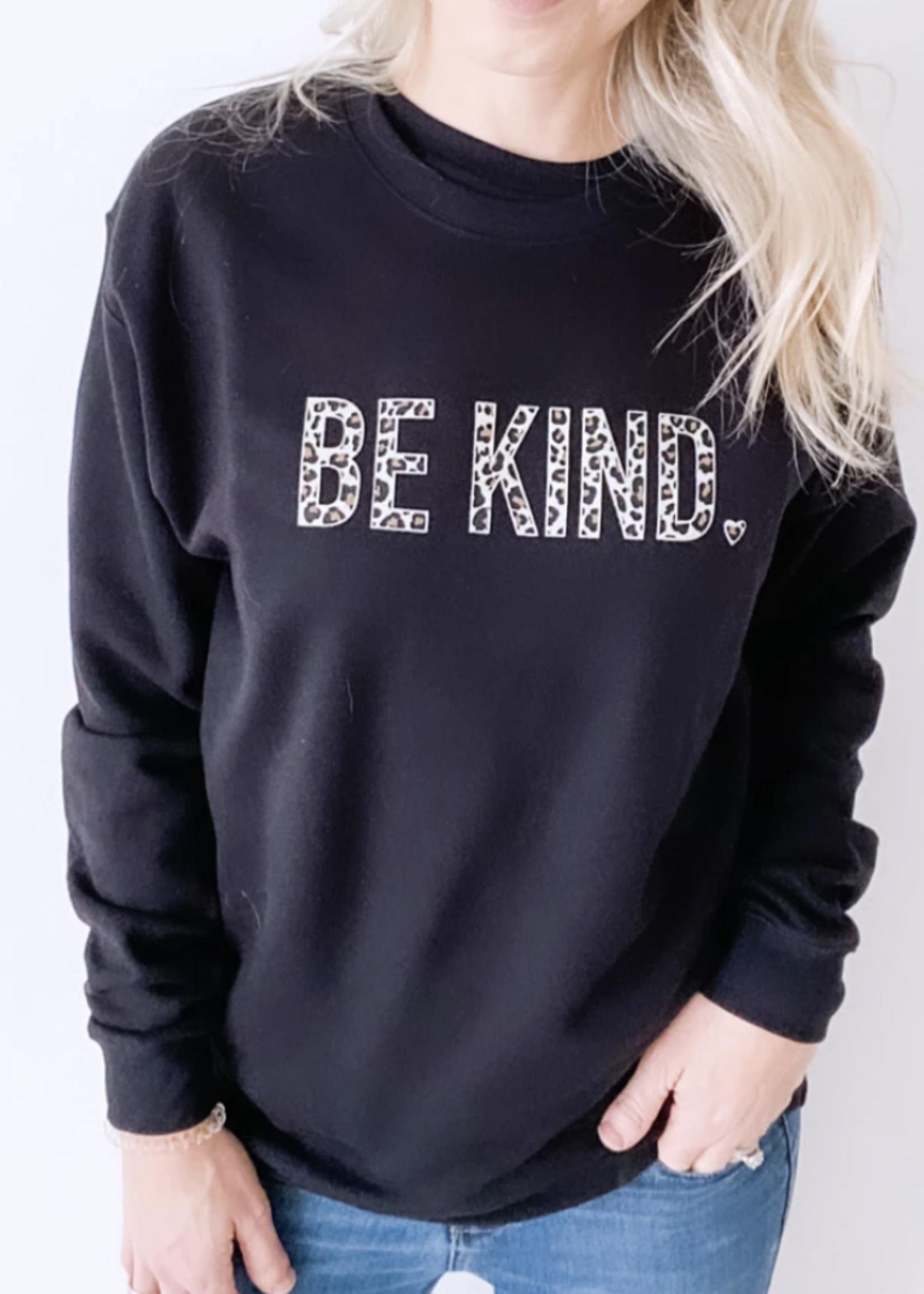 Blonde Ambition Be Kind Crewneck | Leopard