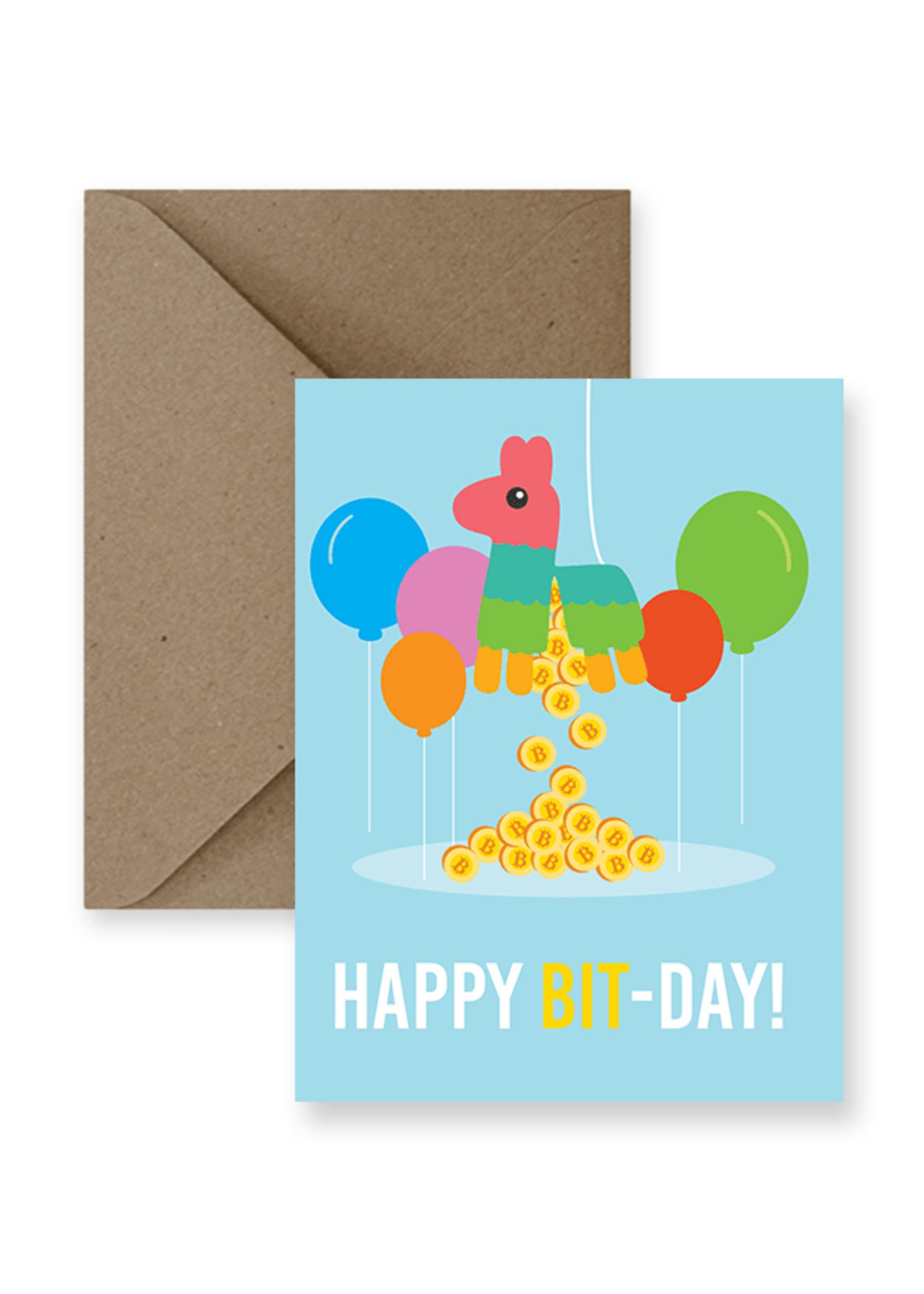 IMPAPER Bitcoin Birthday Card