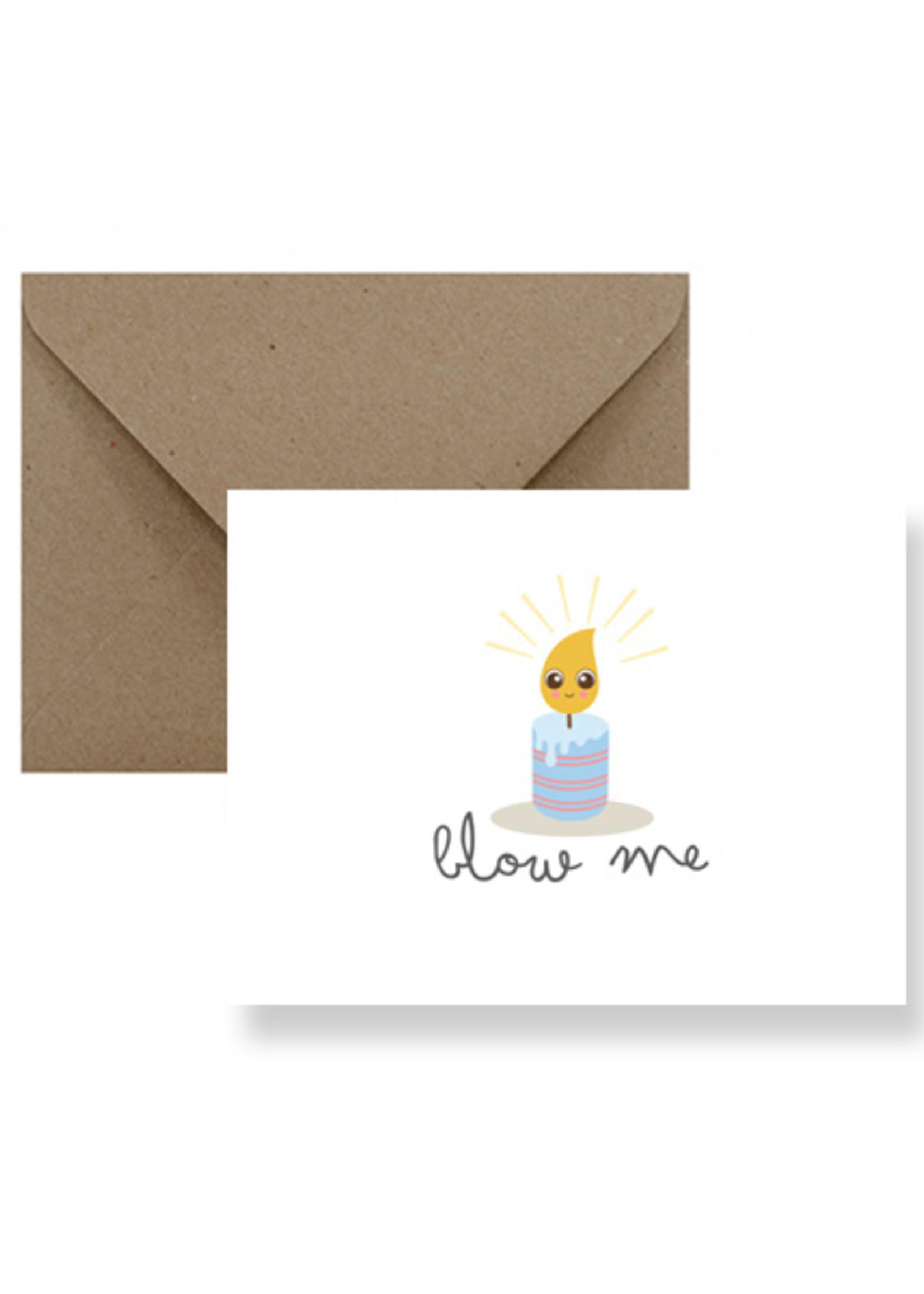 IMPAPER Blow Me Birthday Card