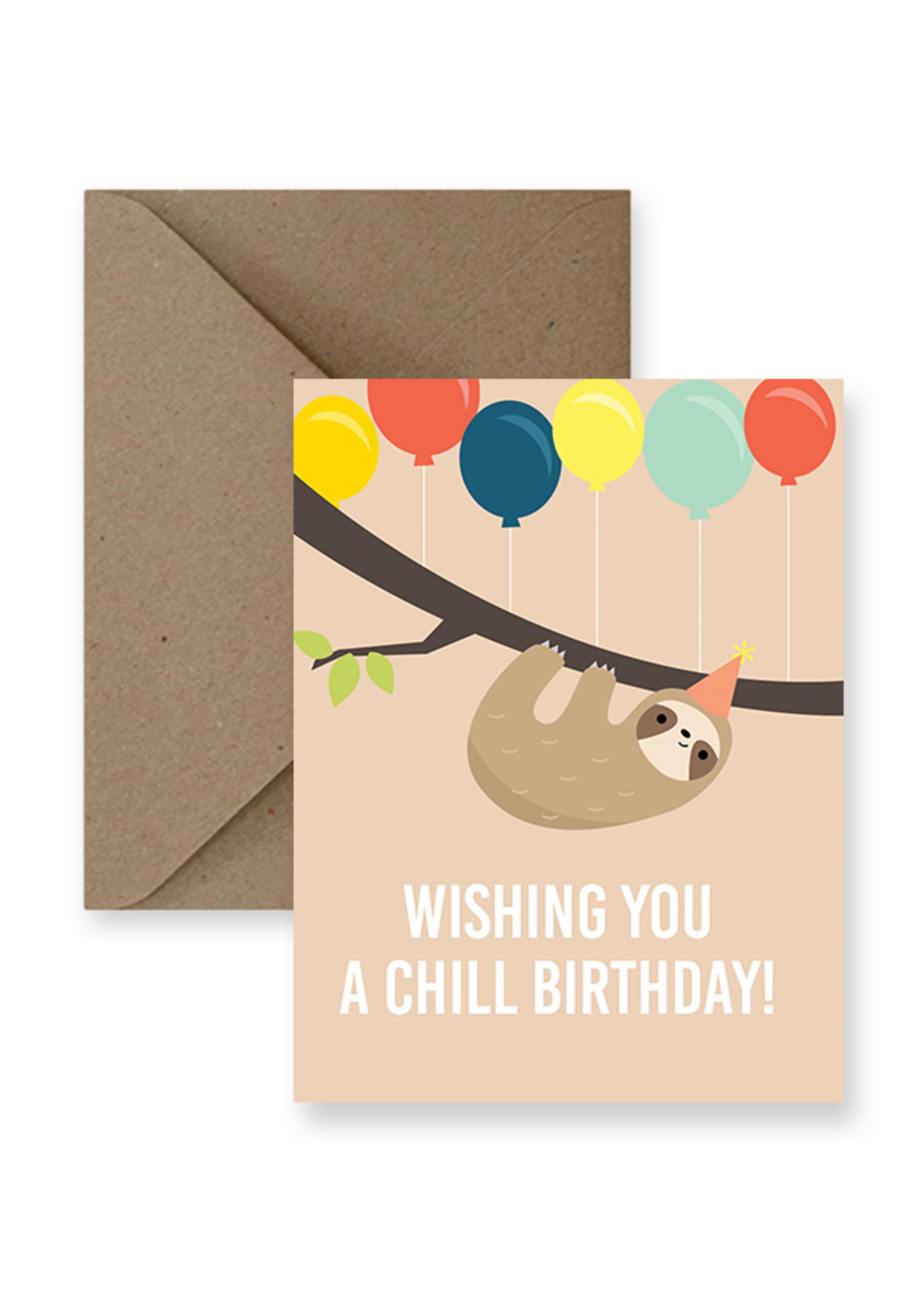 IMPAPER Chill Sloth Birthday Card