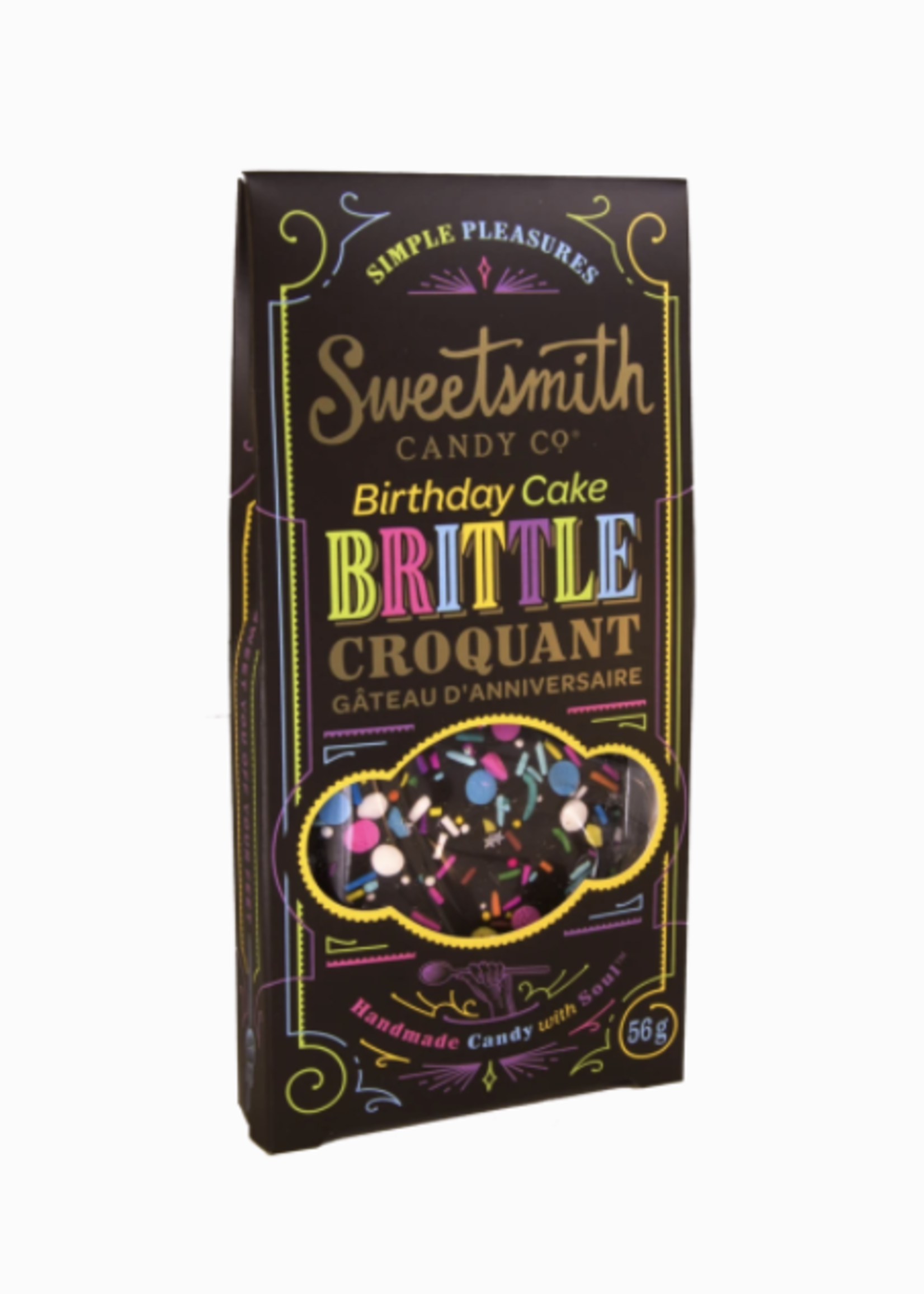 Sweetsmith Candy Co. Chocolate Birthday Cake Brittle