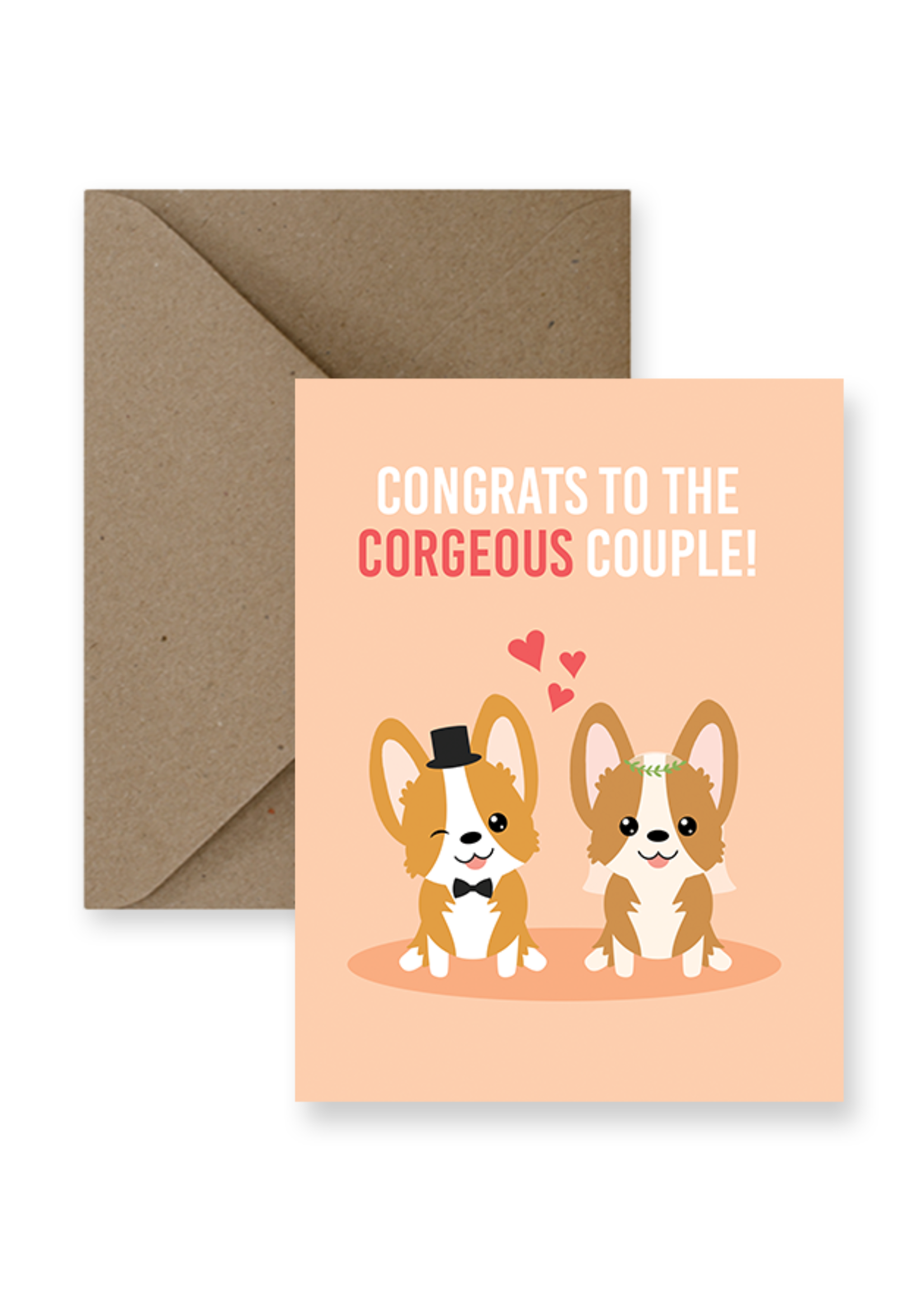 IMPAPER Corgeous Couple Card