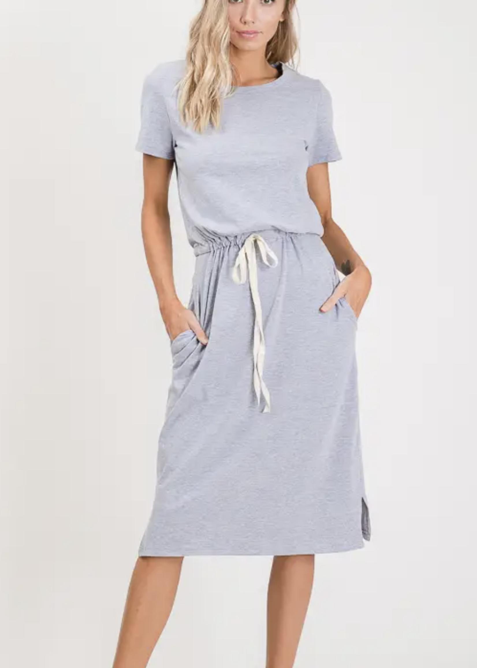 Cotton Drawstring Dress