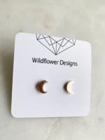 Wildflower Designs Mini Moon Earrings
