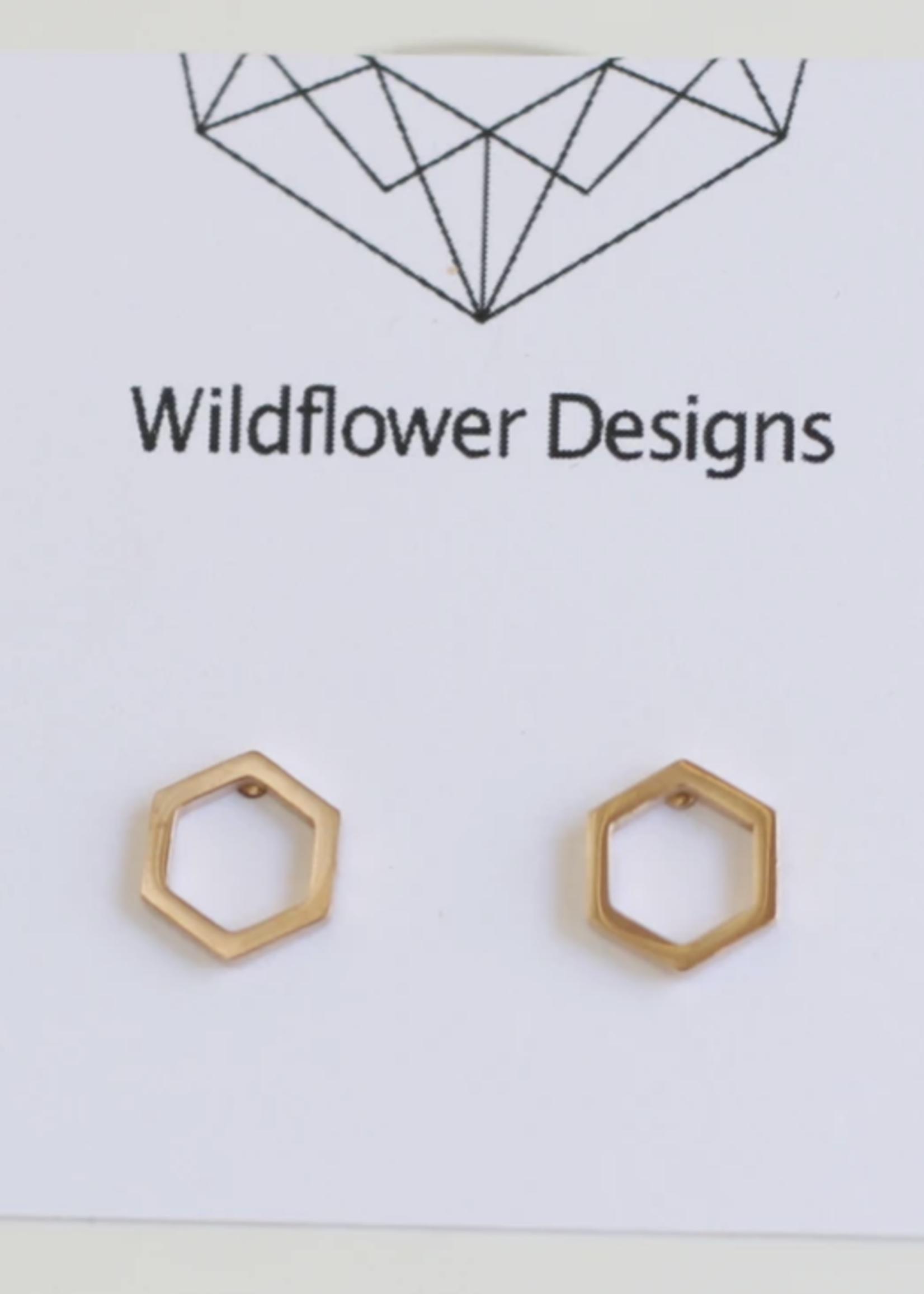 Wildflower Designs Mini Hexagon Earrings