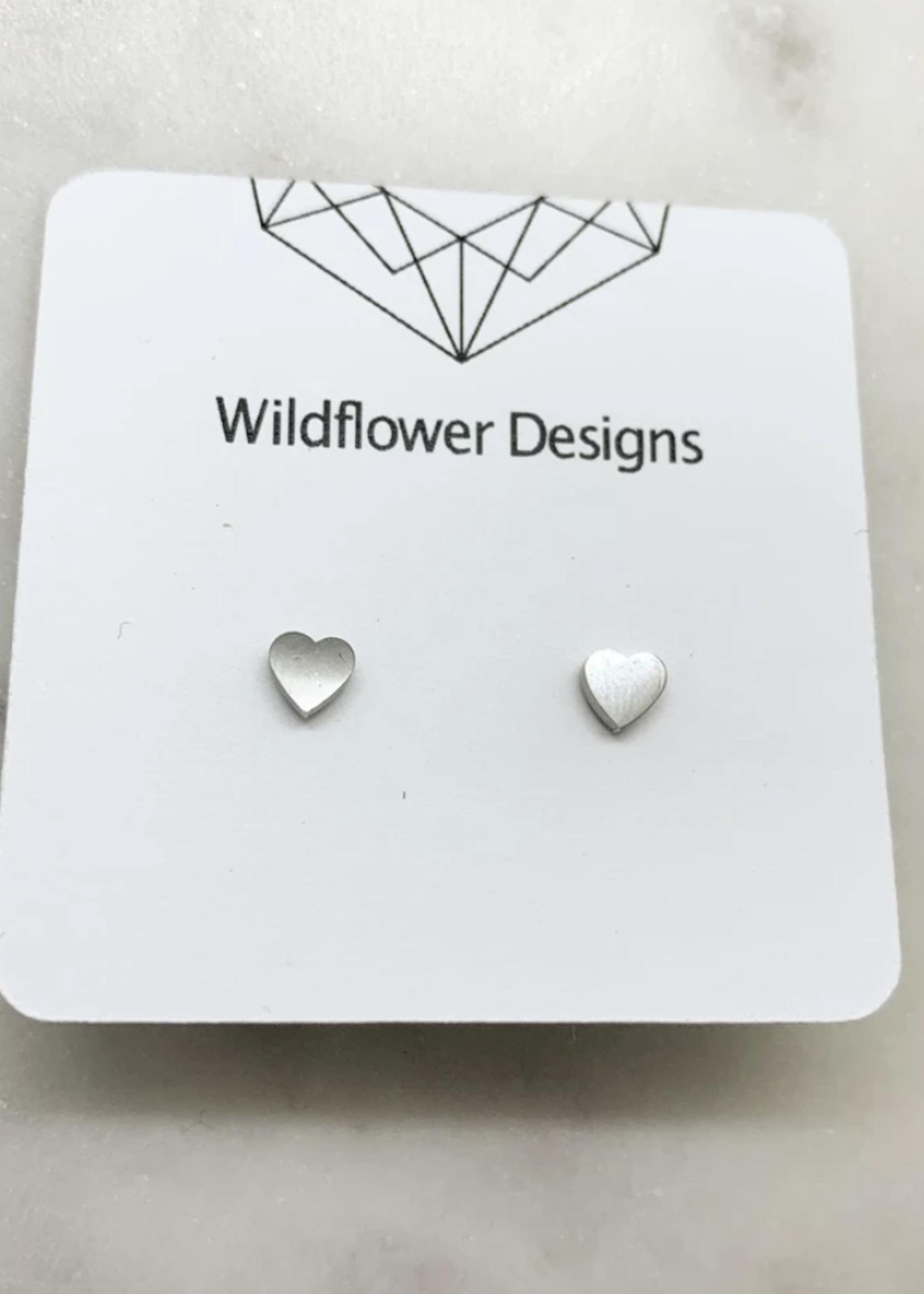 Wildflower Designs Mini Heart Earrings