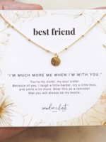 """Wander & Lust Jewelry Sterling Silver Best Friend Coin Necklace 