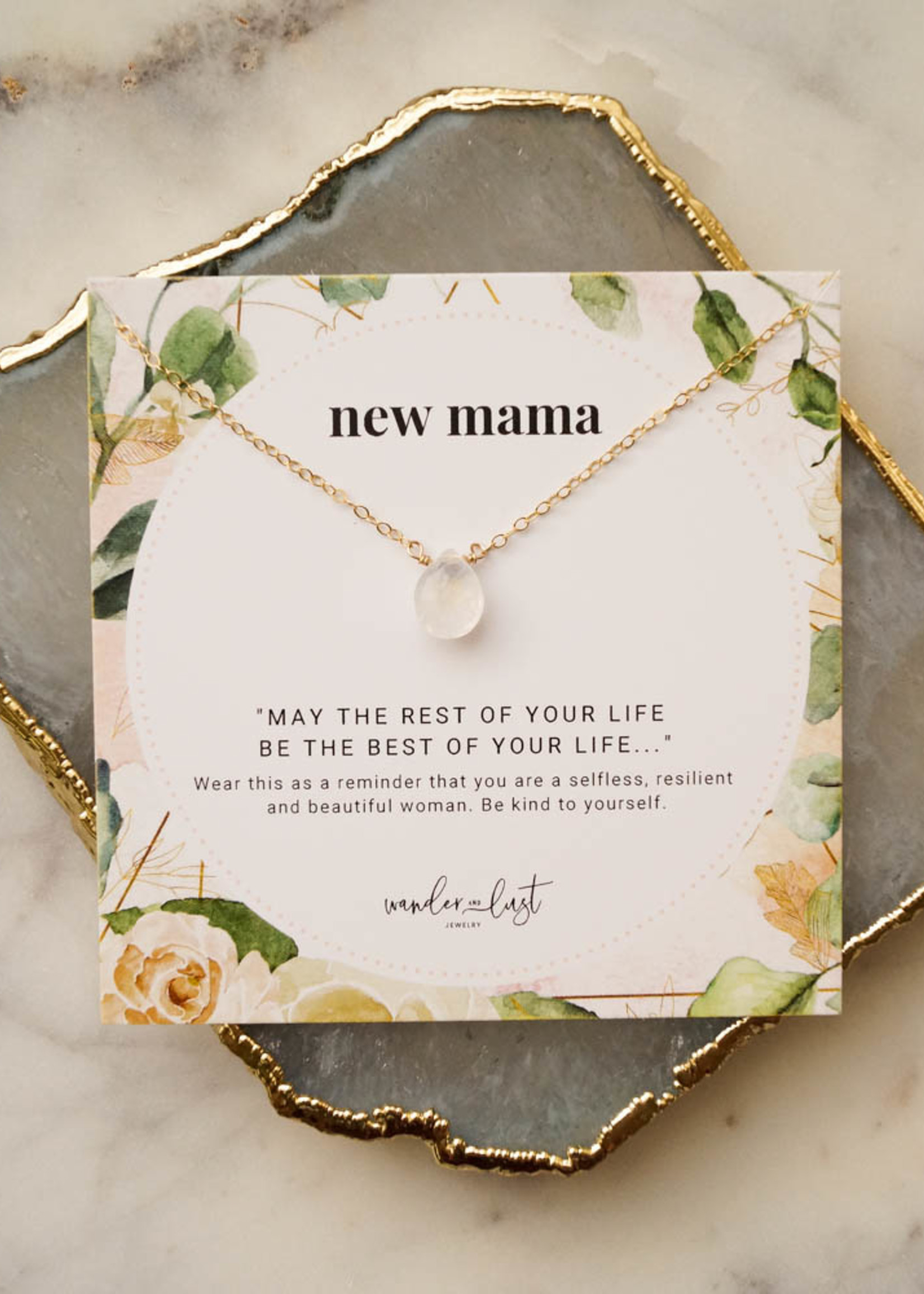 """Wander & Lust Jewelry Silver New Mama Necklace   18"""""""