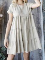 Tencel Mini Dress   Taupe
