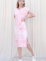 Tie Dye Midi Dress   Peach