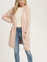 Fuzzy Fine Cable Cardigan