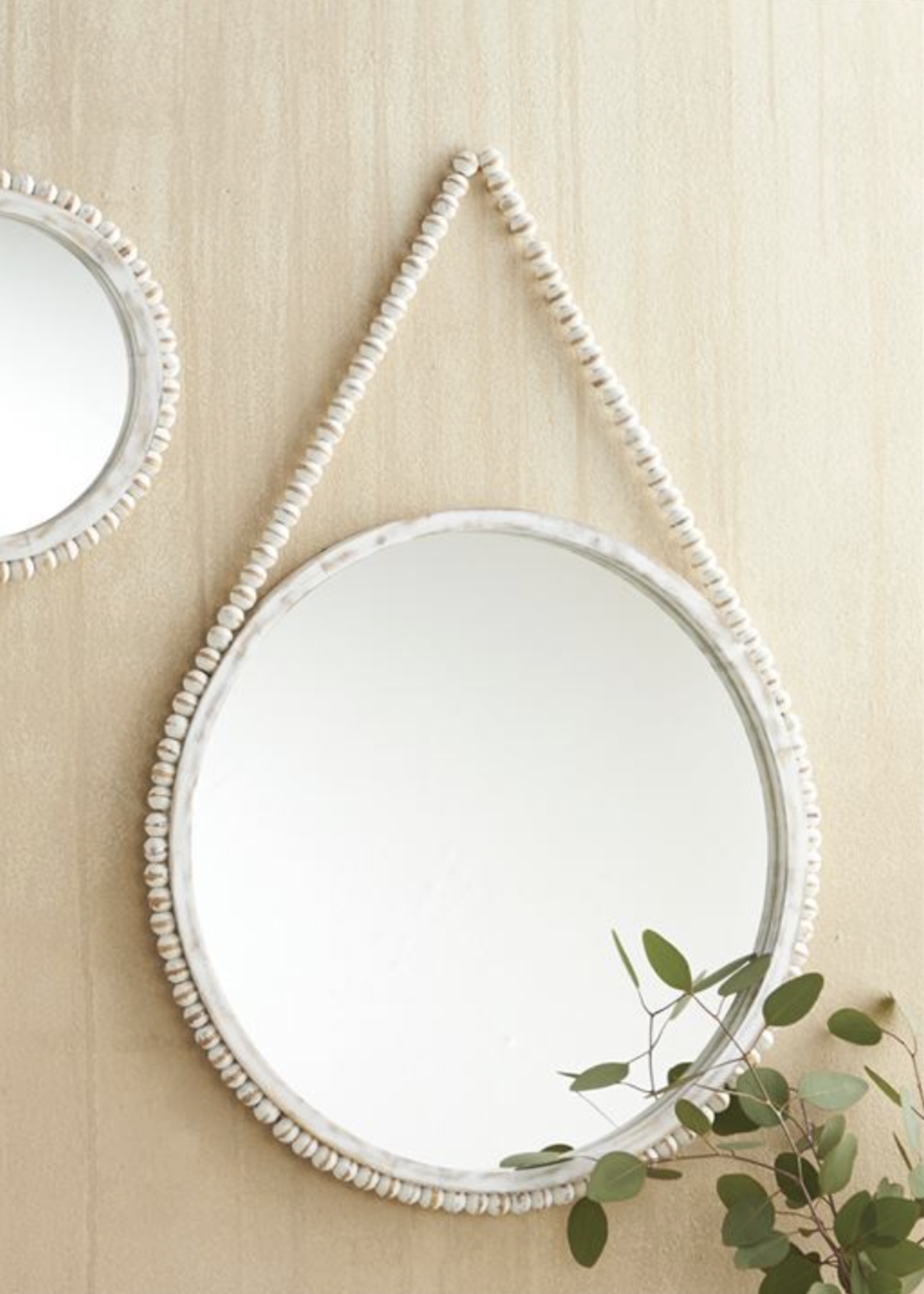 Mud Pie Hanging Beaded Mirror