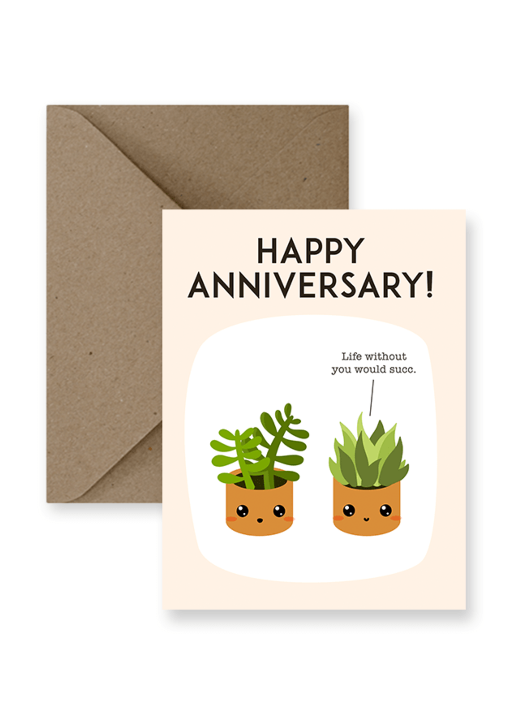 IMPAPER Happy Anniversary, Life Would Succ Card