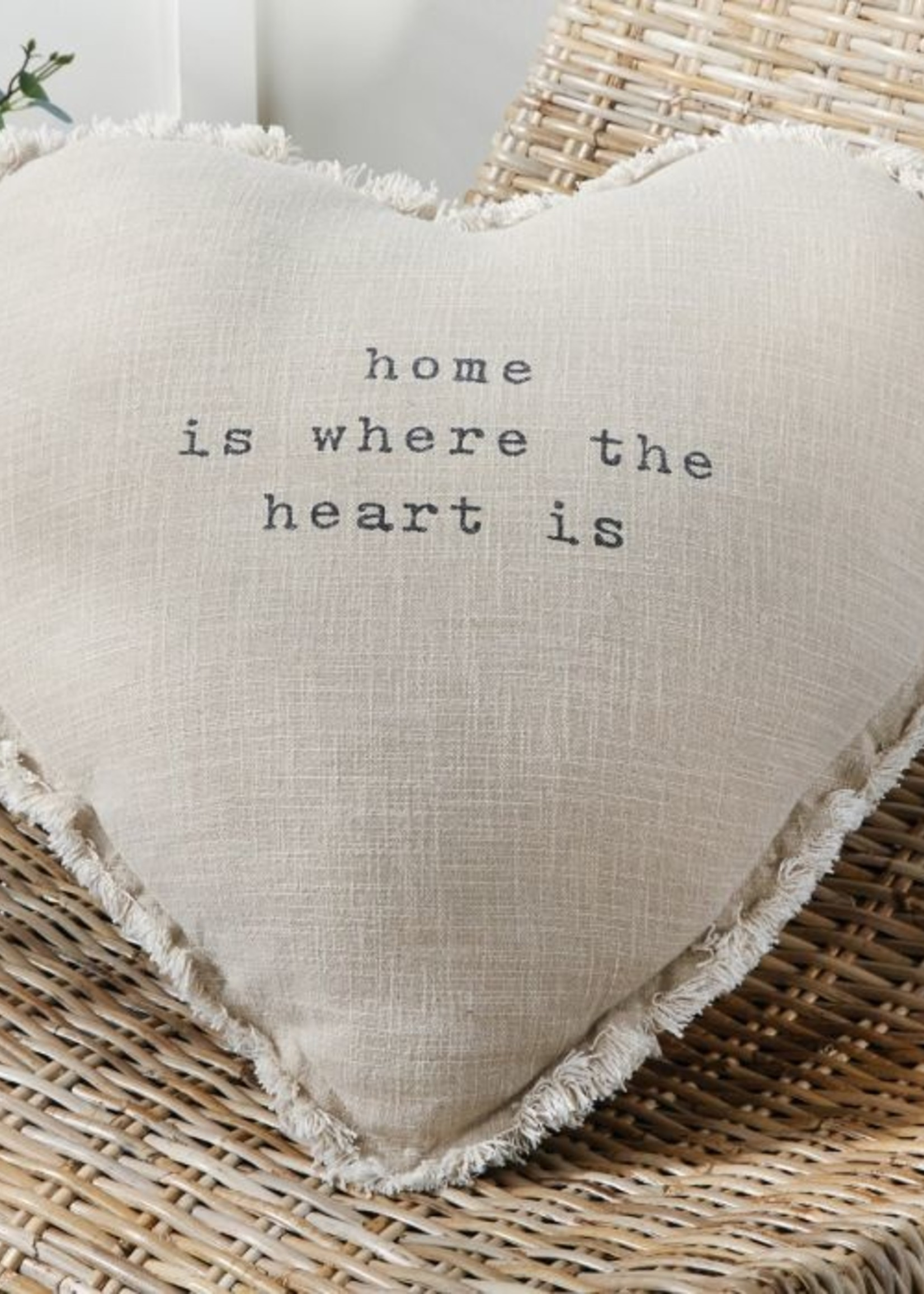 Mud Pie Home Is Where The Heart Is Pillow