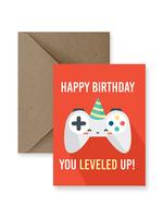 IMPAPER Leveled Up Birthday Card