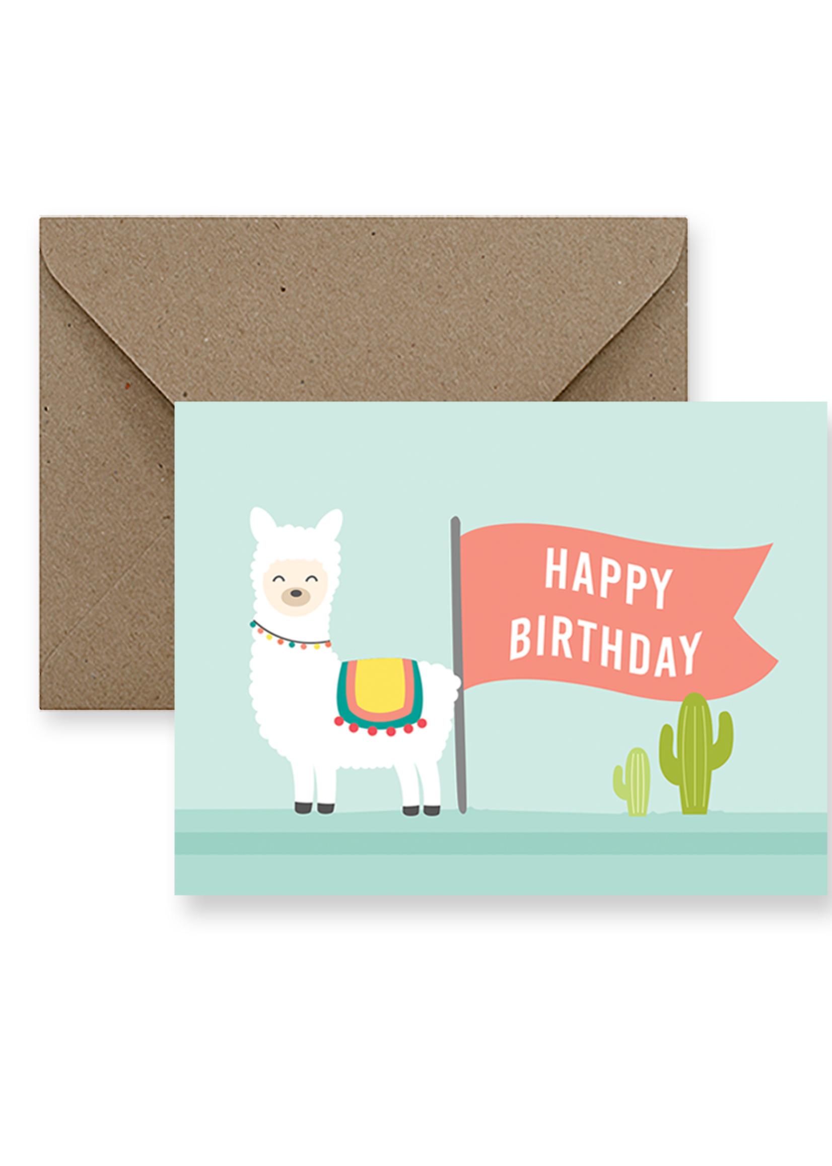 IMPAPER Llama Birthday Card