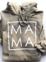 Bean & Boo Company Mama Hoodie   Khaki