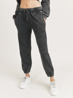 Mineral Washed Joggers | Black
