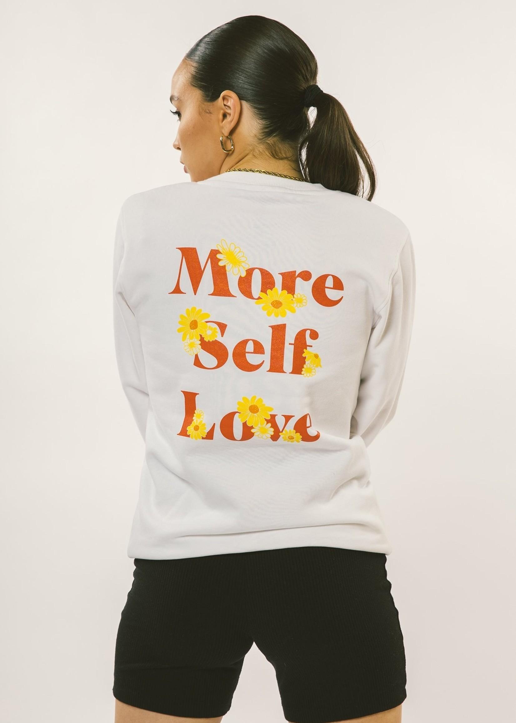 Peace Collective More Self Love Crewneck | White