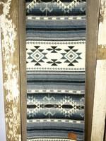Heartprint Threads Ocean Layers Aztec Blanket | Double