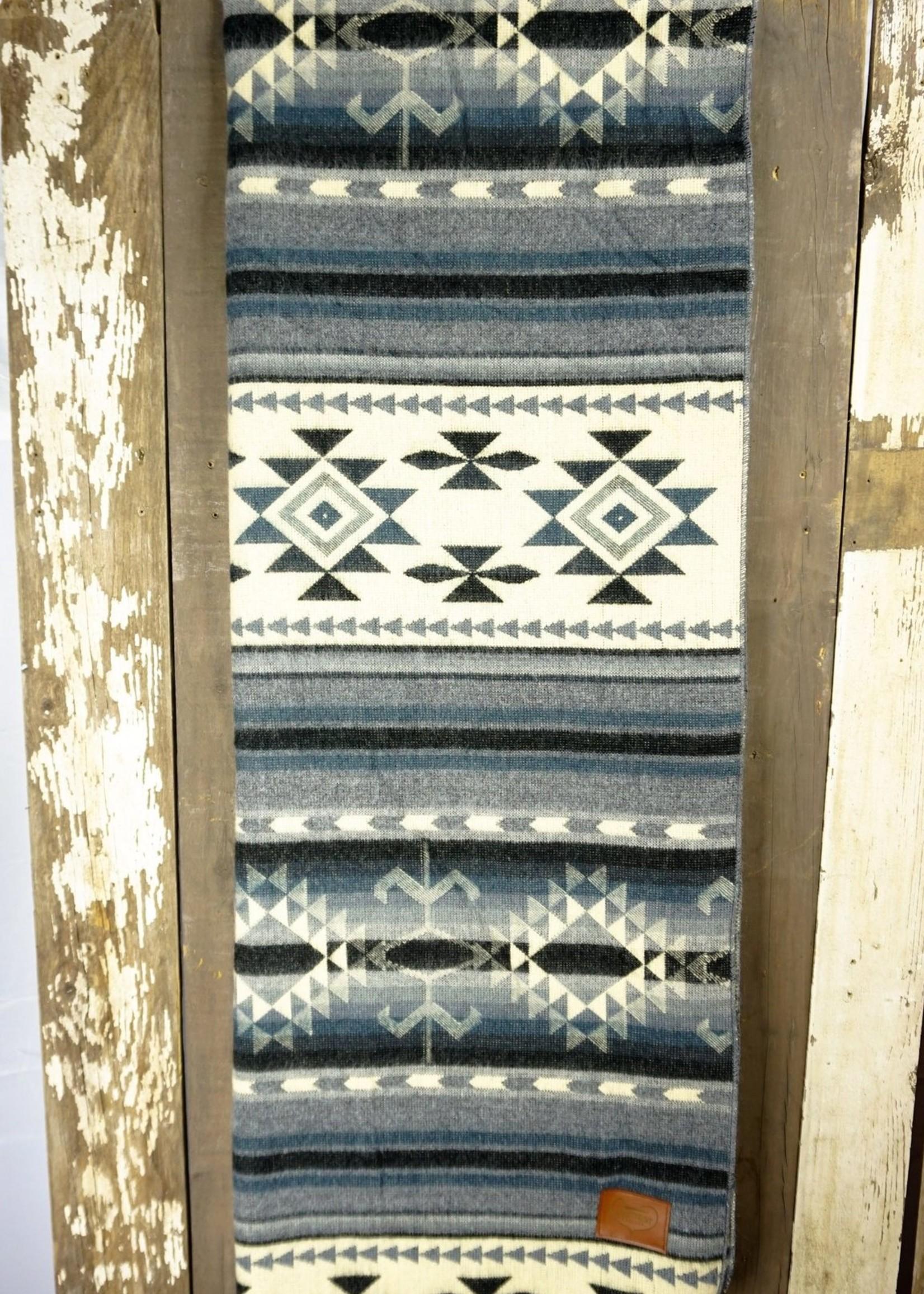 Heartprint Threads Ocean Layers Aztec Blanket   Double