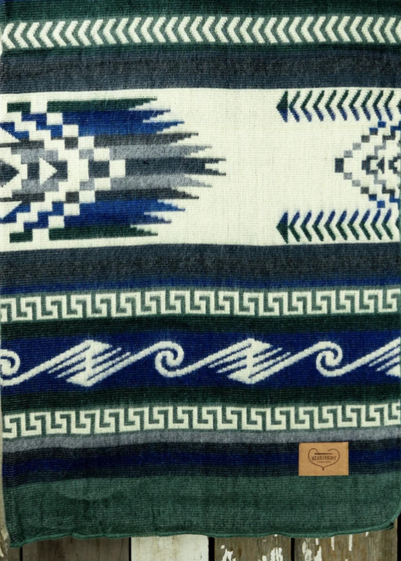 Heartprint Threads Pacific Glows Maskuy Blanket | Queen