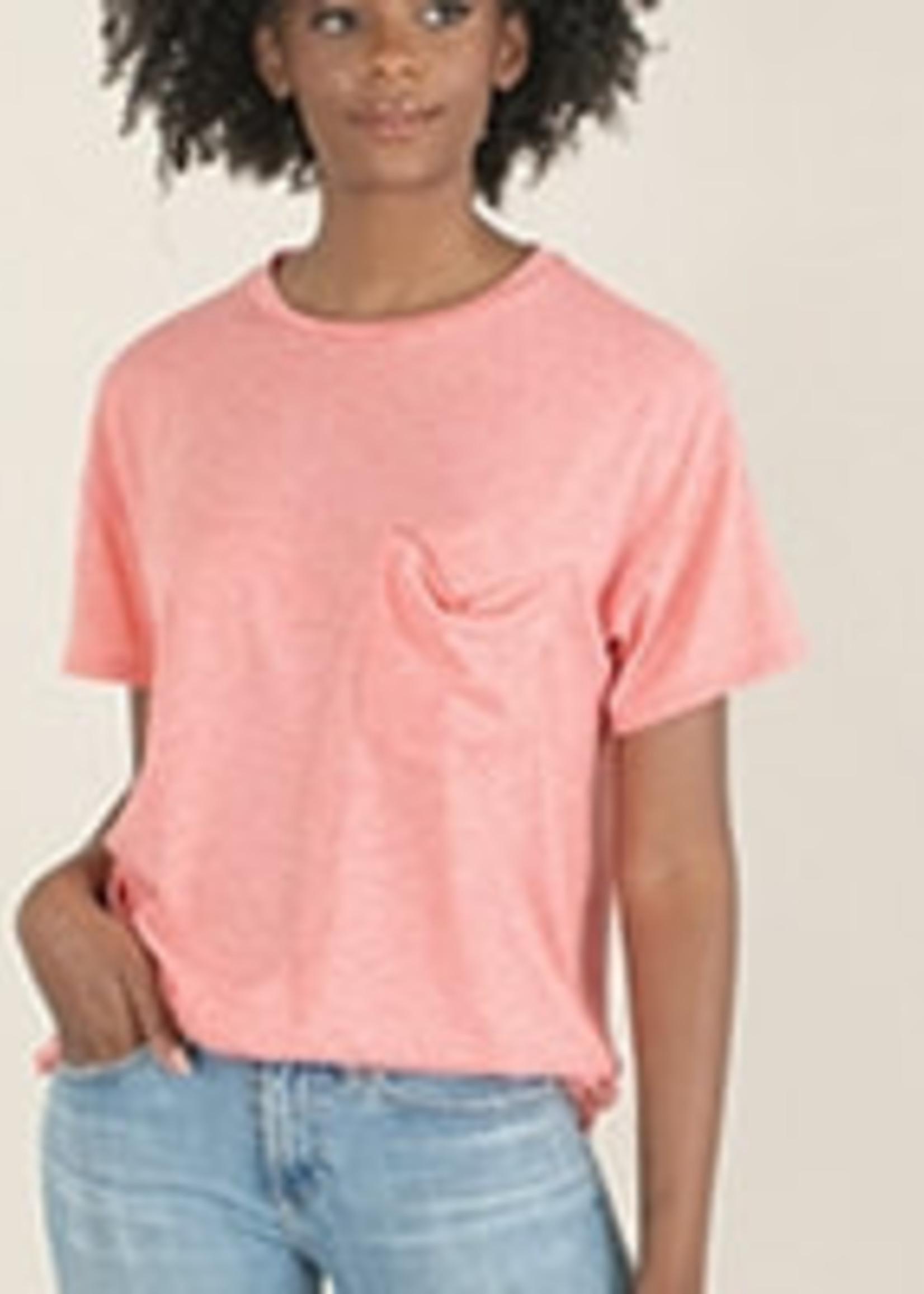 Raw Hem Pocket T-Shirt