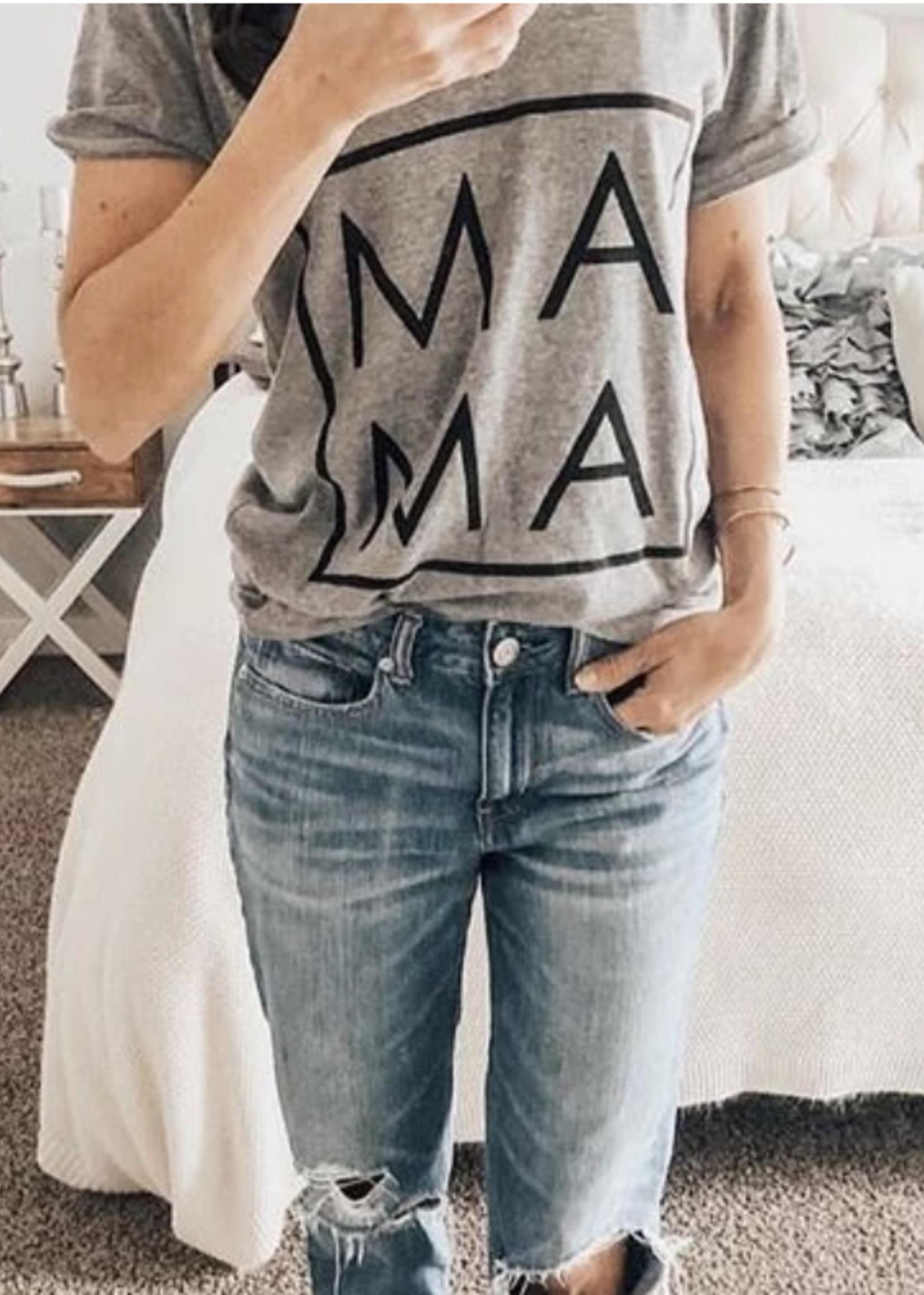 Bean & Boo Company Mama V-Neck T-Shirt