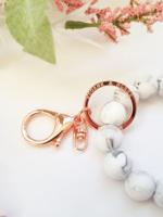 Sloane & Blake White Marble Bracelet Key Ring