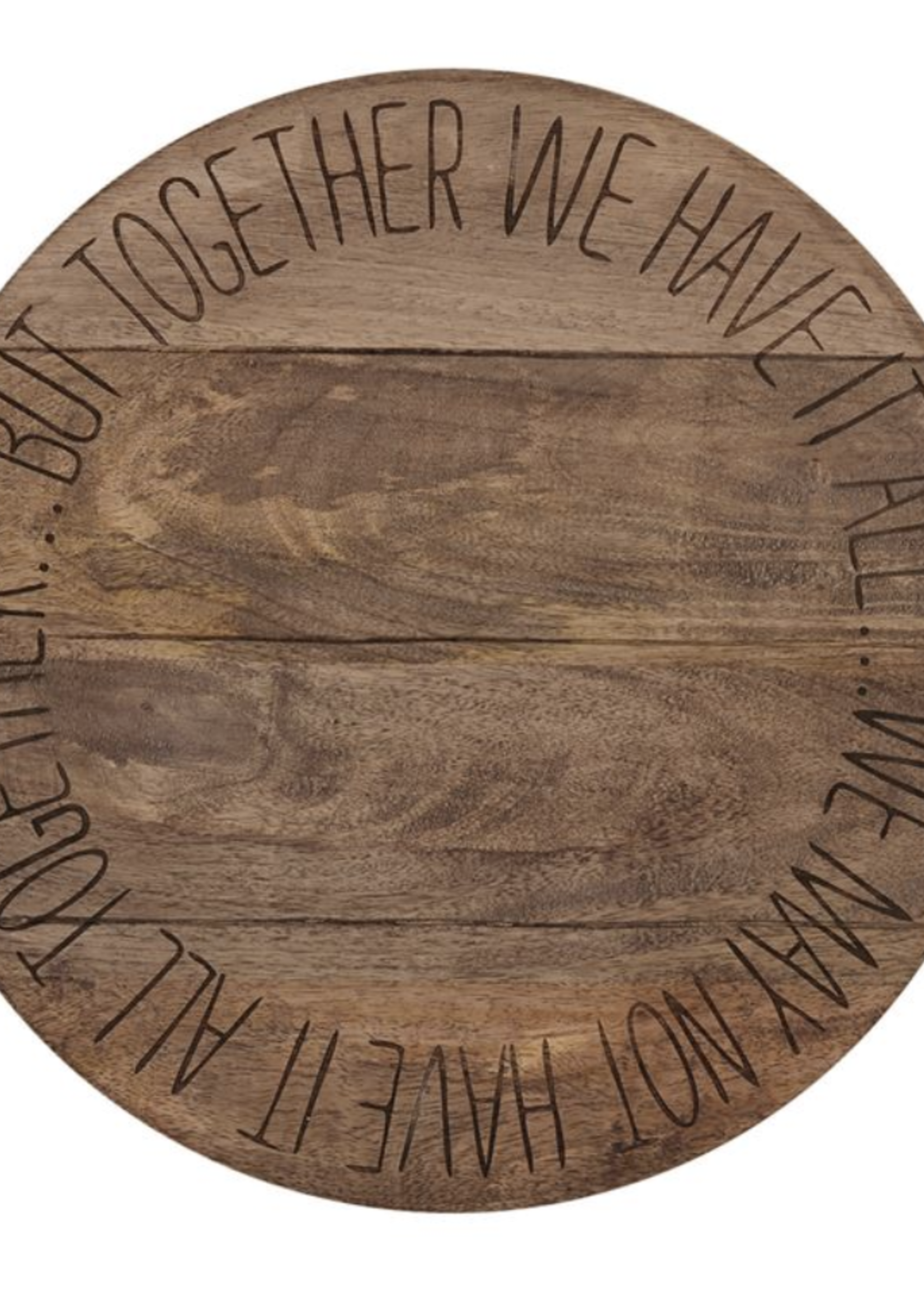 Mud Pie Together We Have It All Lazy Susan