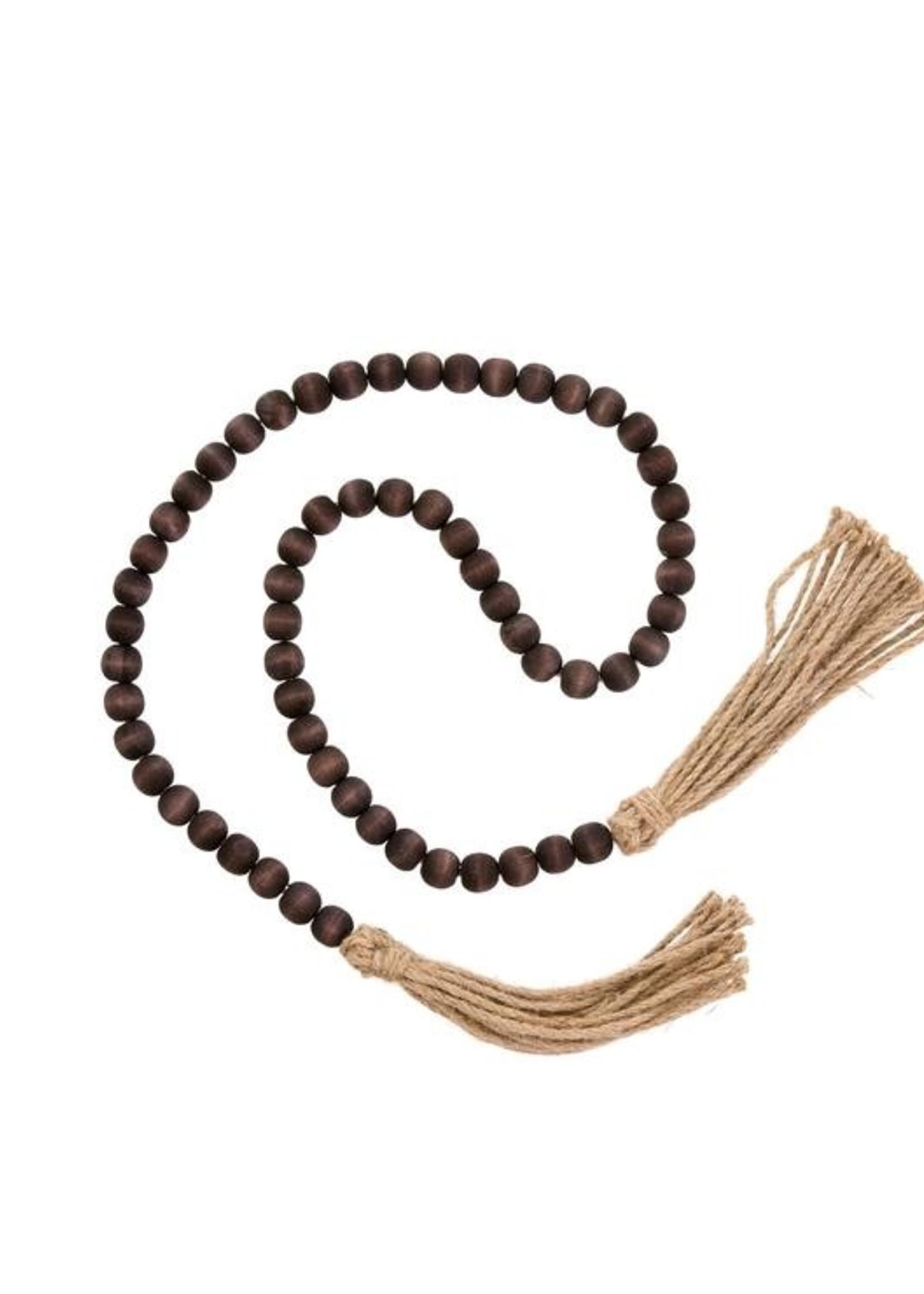 Indaba Trading Co Tassel Prayer Beads | Brown