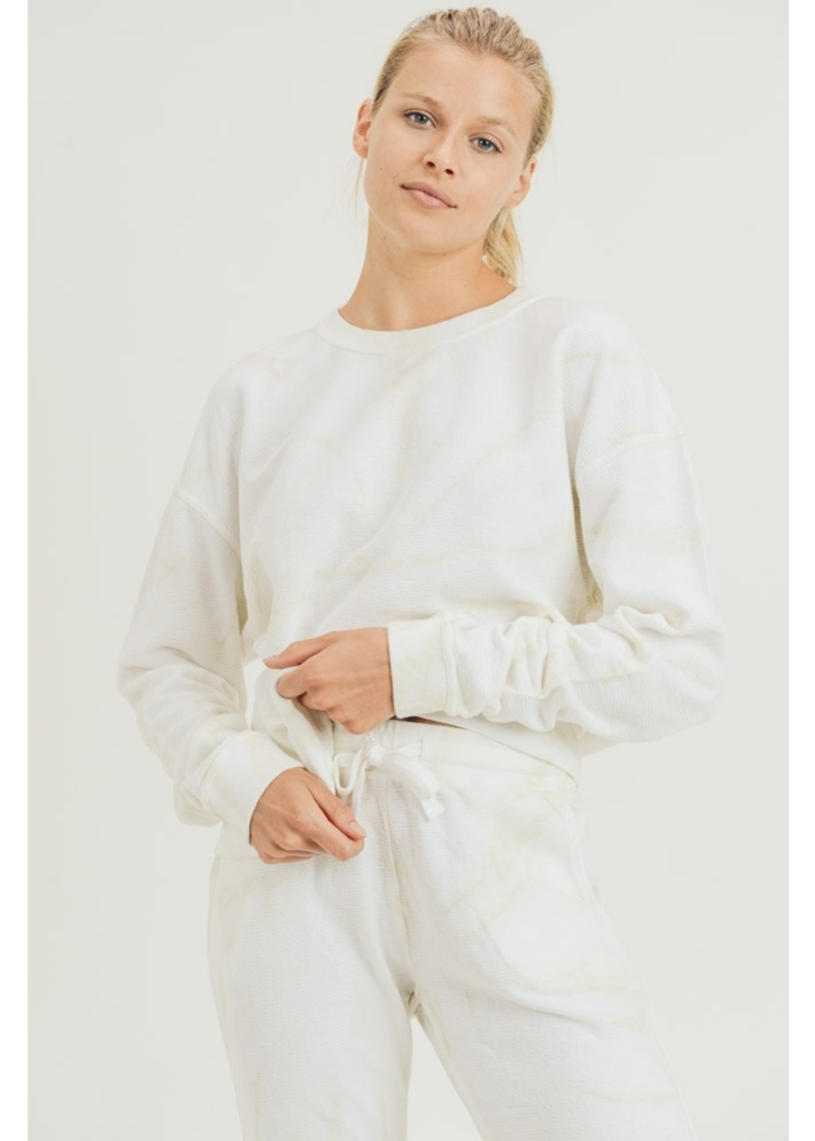 Swirl Tie Dye Pullover   Natural