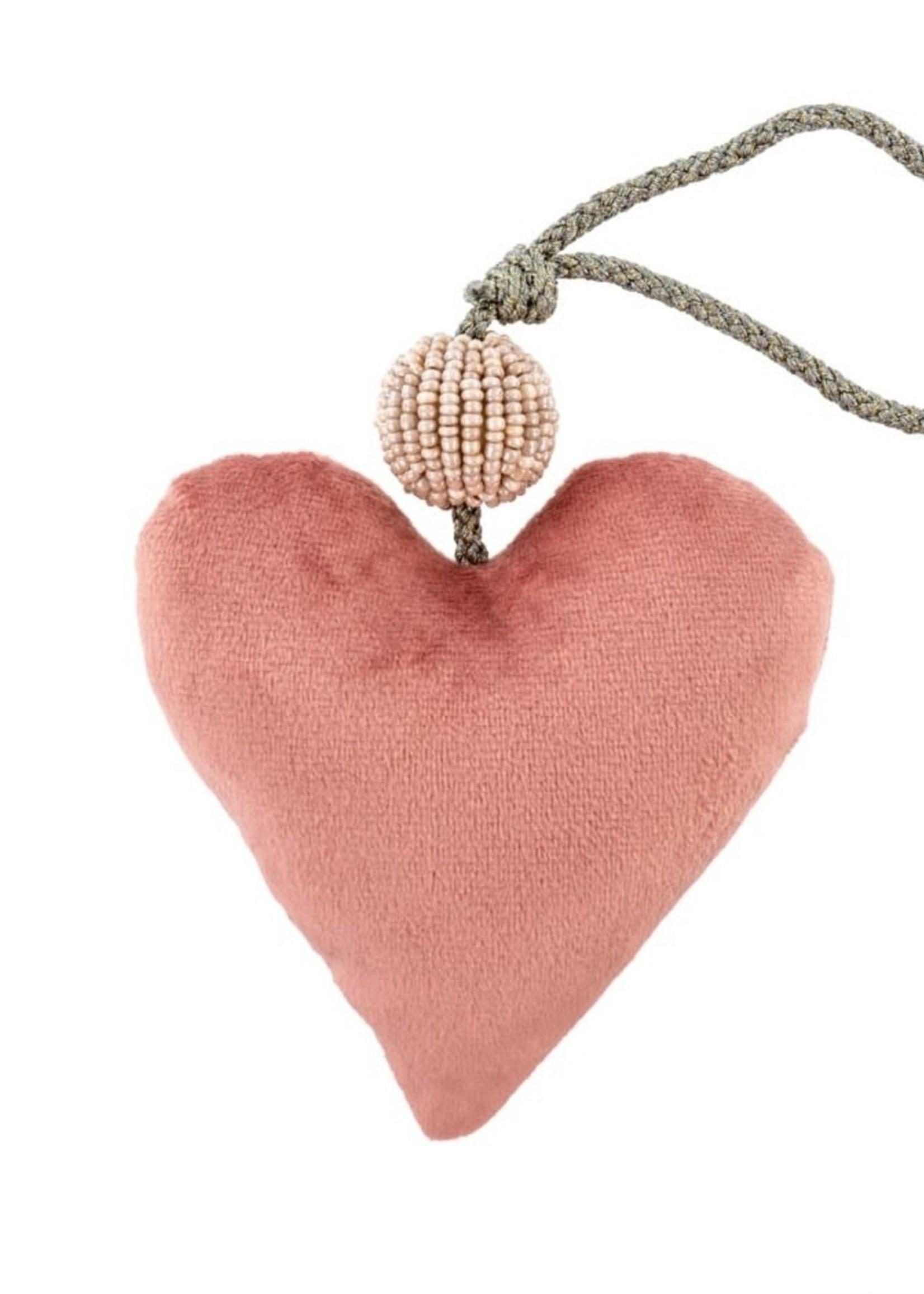 Indaba Trading Co Velvet Heart | Pink
