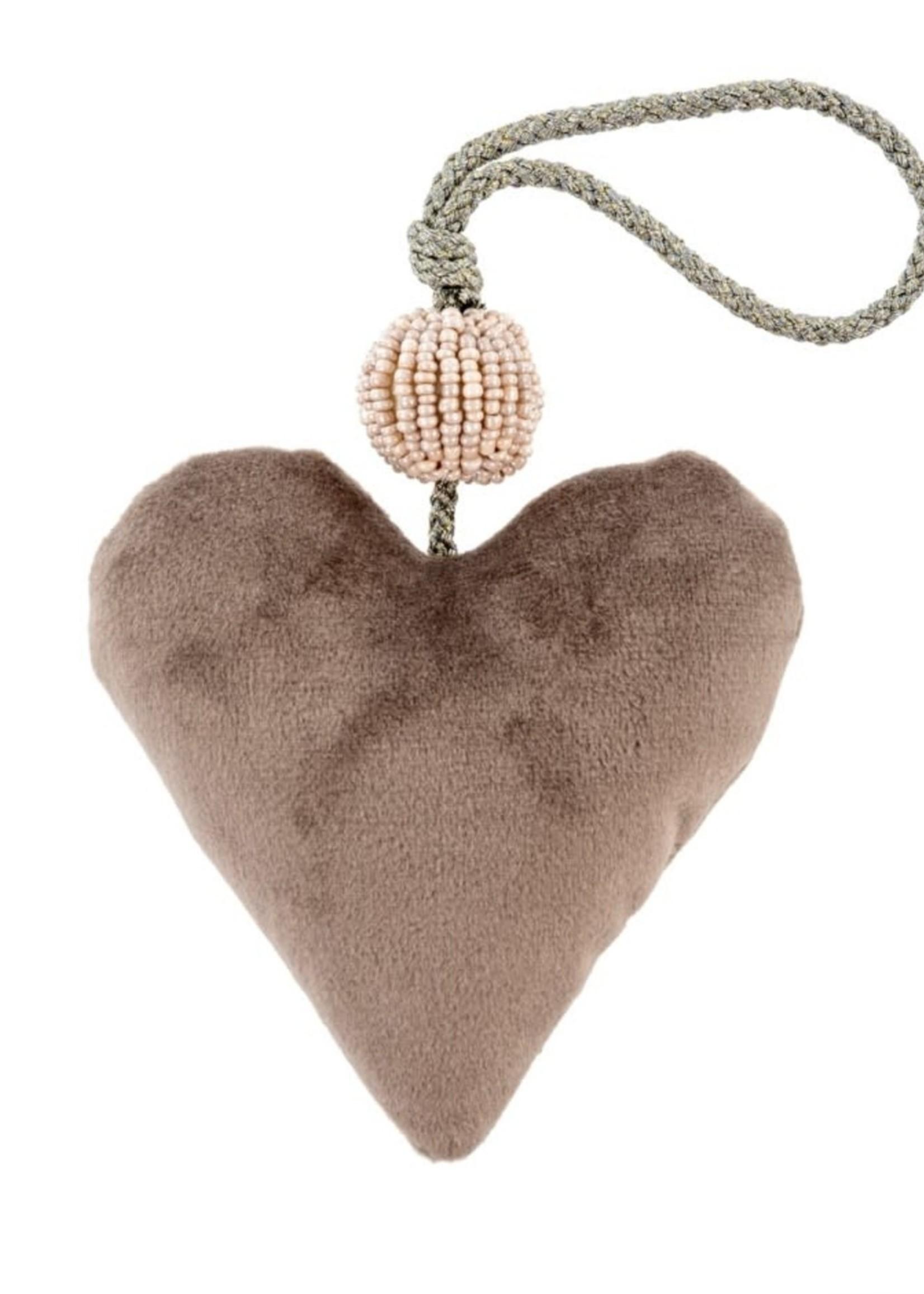 Indaba Trading Co Velvet Heart | Grey
