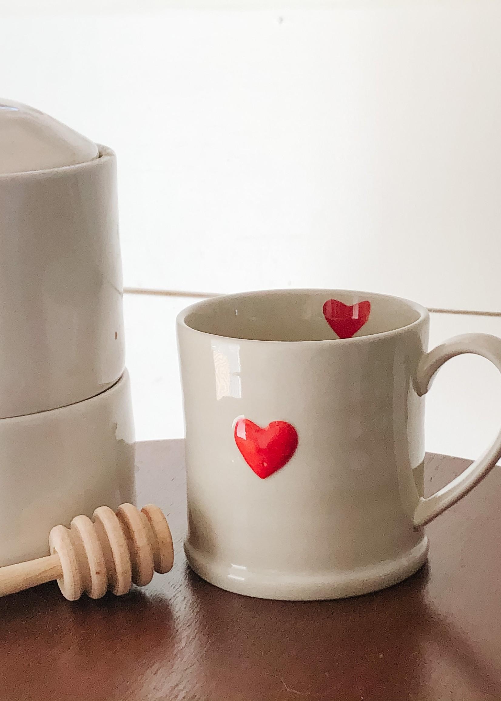 Indaba Trading Co Sweetheart Mug | Red