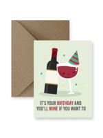 IMPAPER Wine Birthday Card