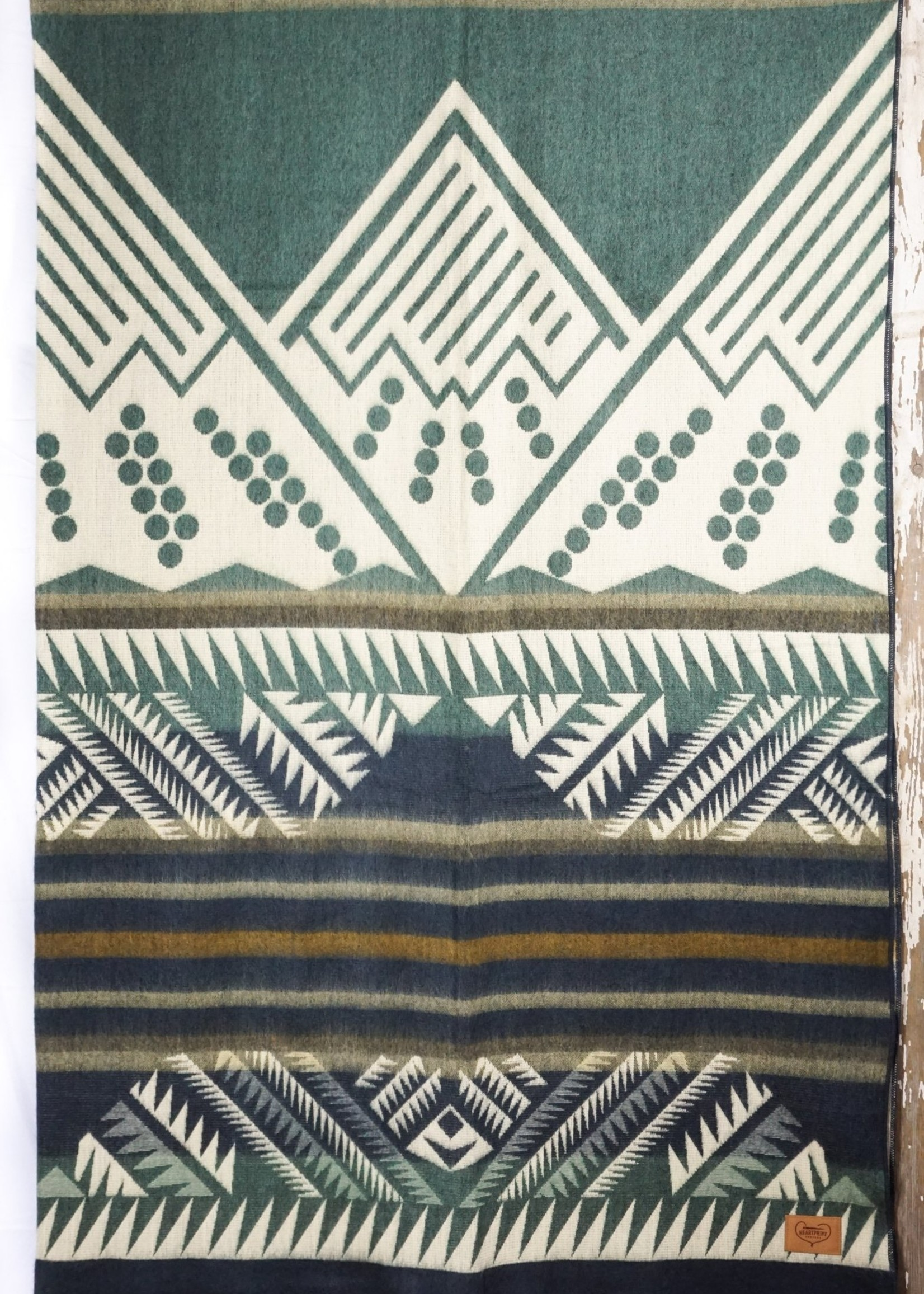 Heartprint Threads Tracing The Columbia Mountain Blanket | Queen