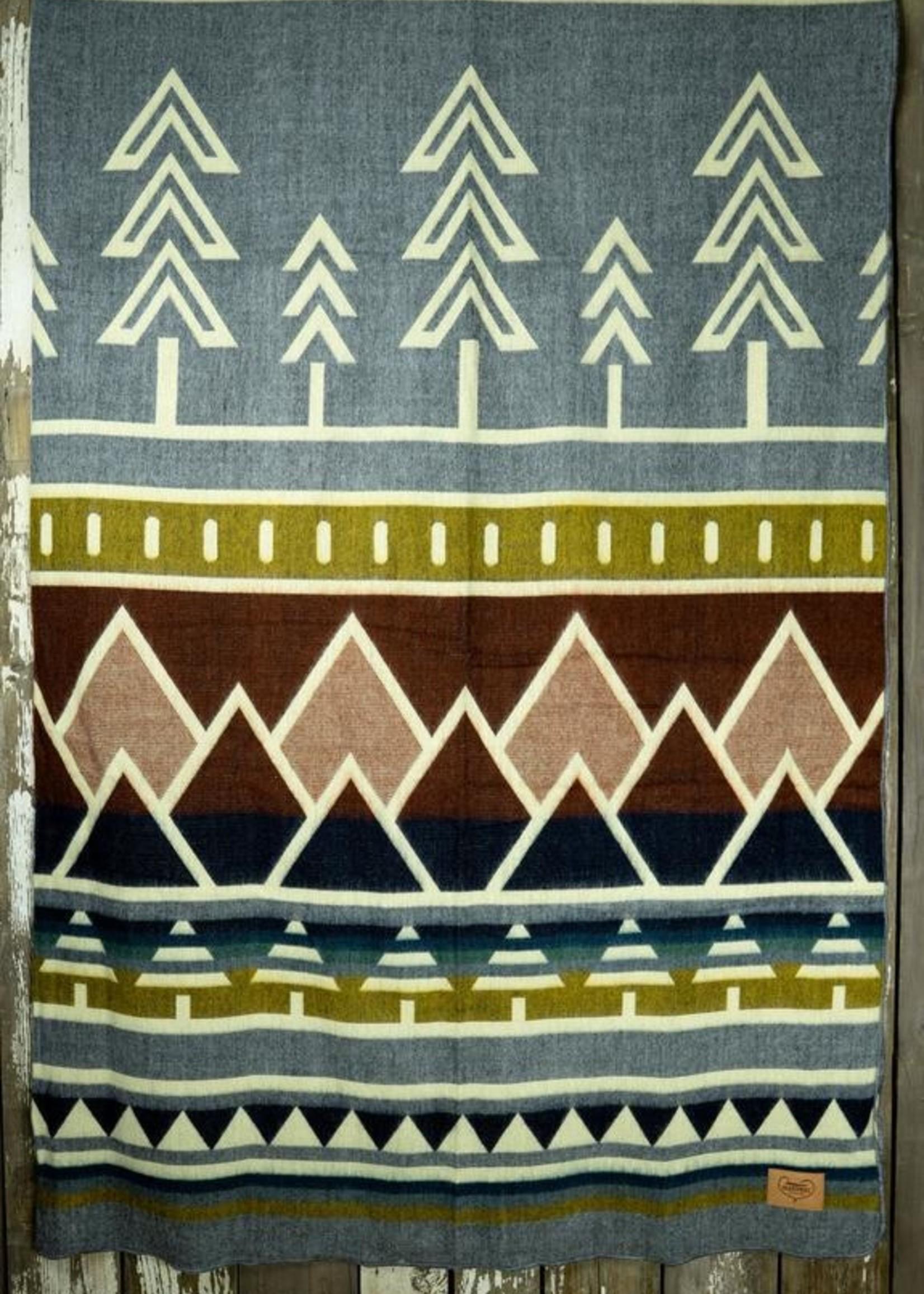Heartprint Threads Subalpine Treeline Blanket | Queen
