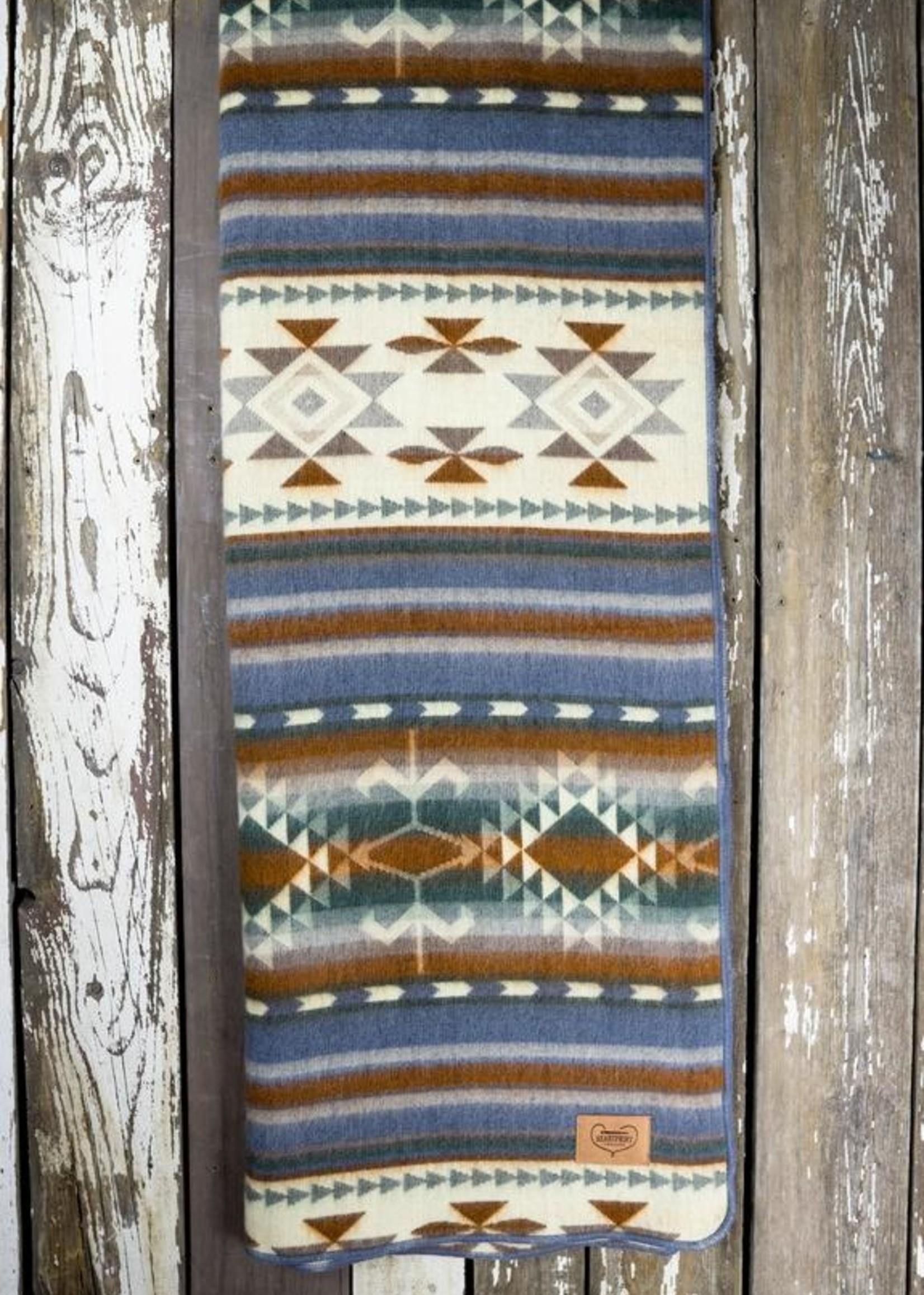 Heartprint Threads Dusk Rose Aztec Blanket | Double