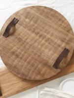 Mud Pie Round Oversized Wood Board
