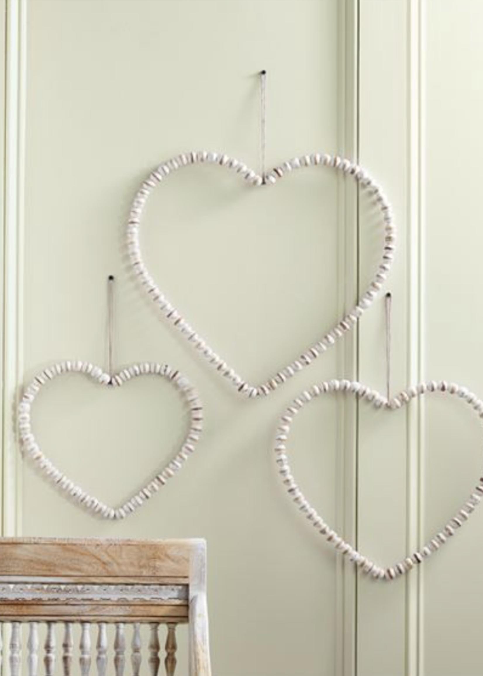 Mud Pie Beaded Heart Hangers