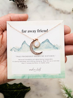 "Wander & Lust Jewelry Far Away Friend Necklace | 18"""
